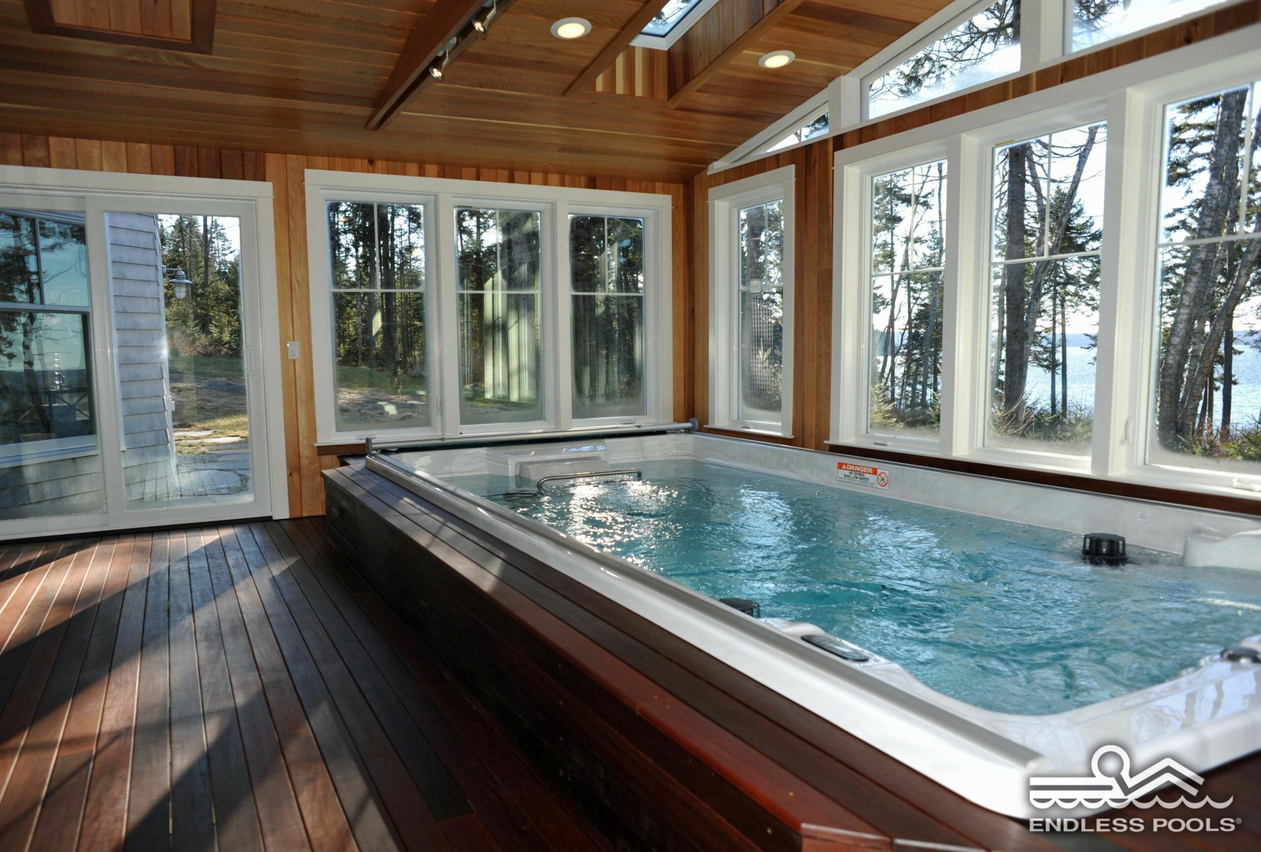 The sunroom swim spa - a beautiful escape for exercise and ..