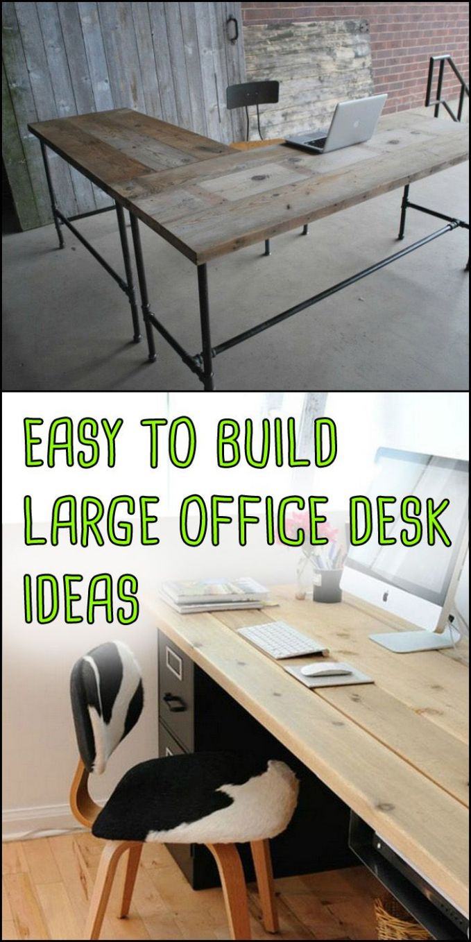 These easy-to-build large home office desk ideas require very ...