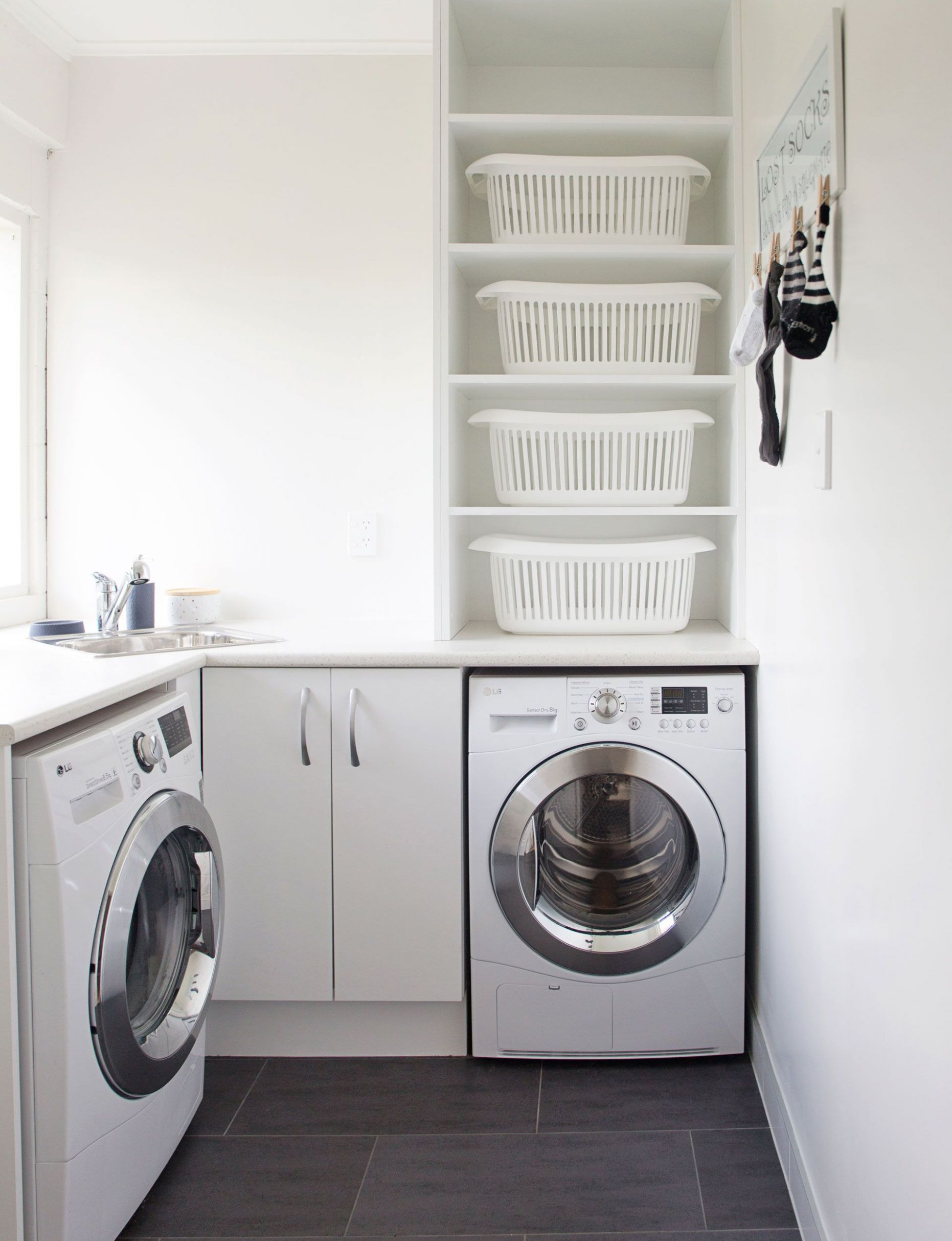 This bright laundry room has loads of functional style | Laundry ..