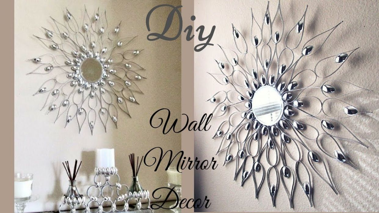 This Is a DIY Wall Mirror Decor That is Quick and Easy to make. In ..