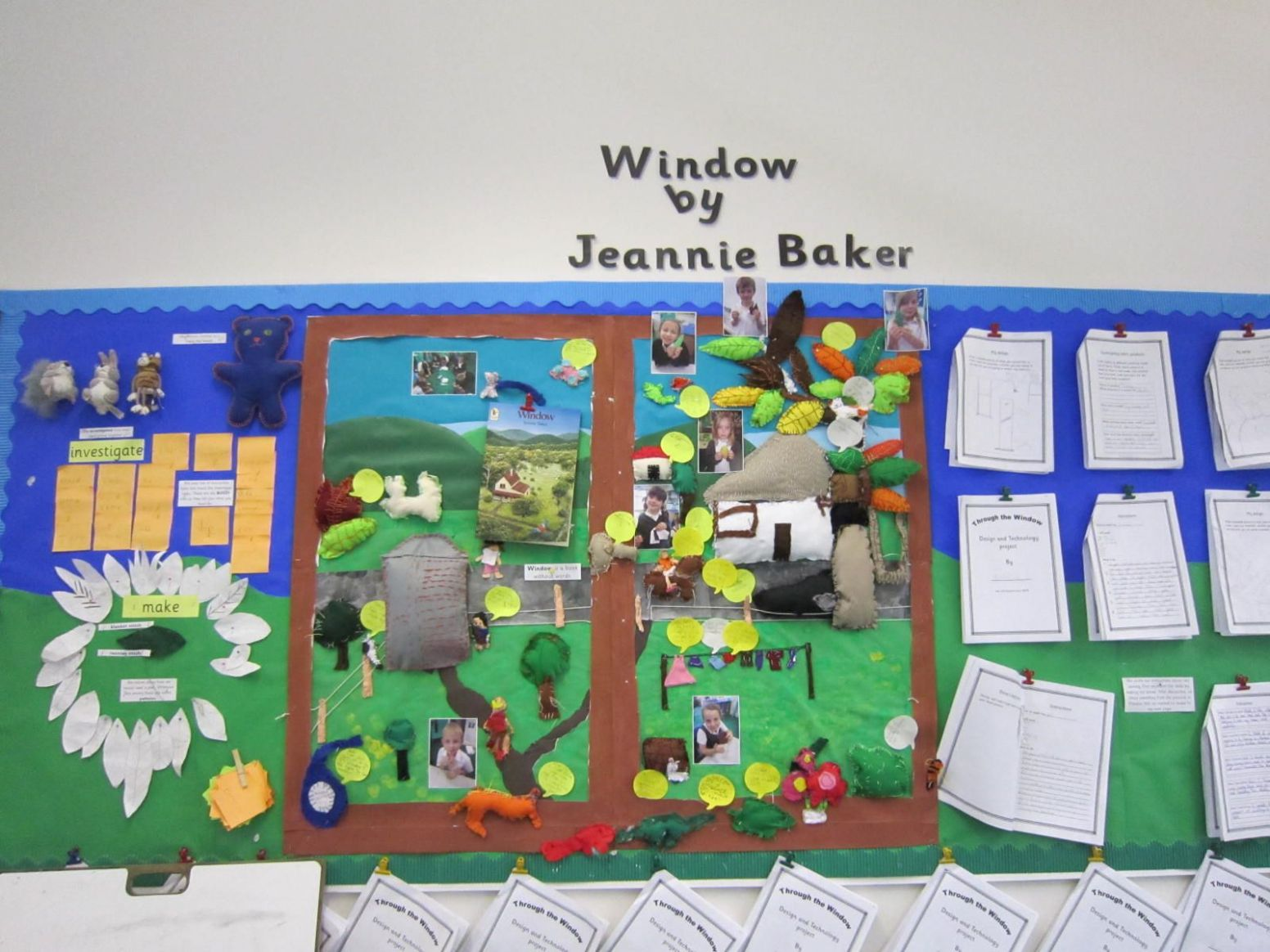 Thurton Primary School. Display based on Window by Jeannie Baker ..