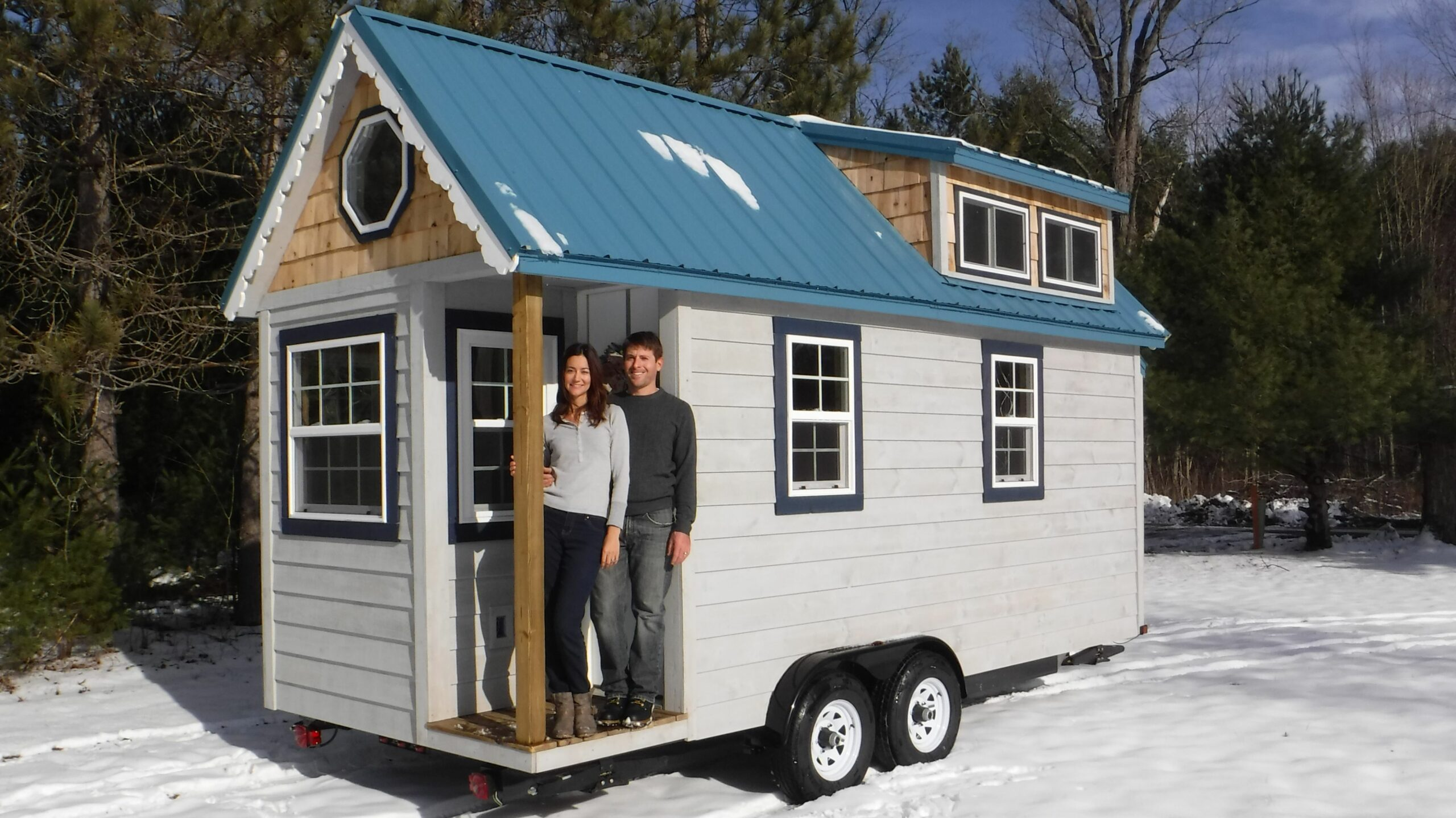 Tiny House Exterior - Complete! - Sailing Baby Blue