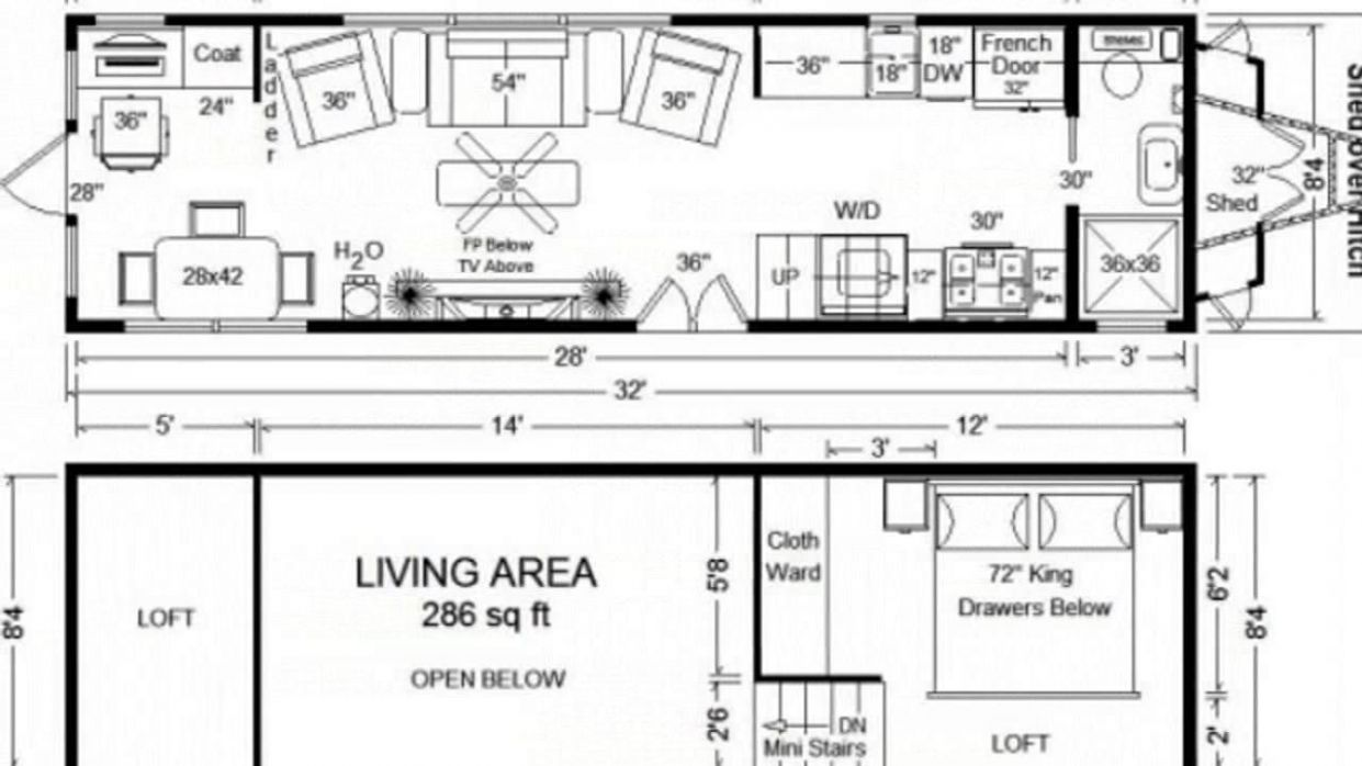 Tiny House Floor Plans: 9	 Long Tiny Home on Wheels Design ..