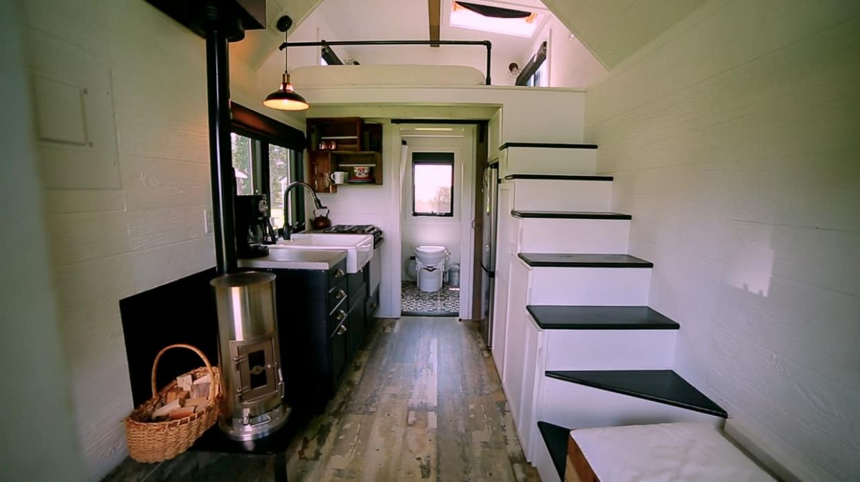 Tiny House Heating: Our Best Tips to Staying Cozy All Winter - tiny house wood stove