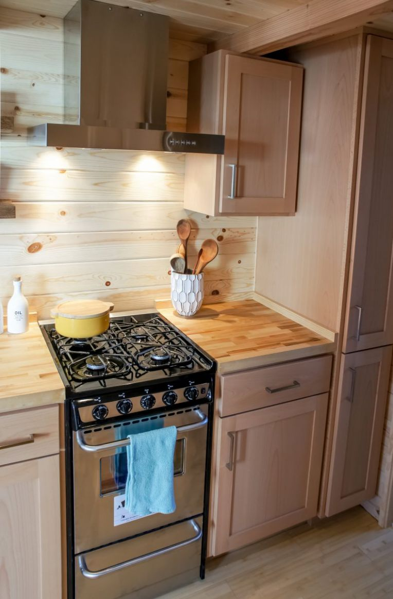Tiny House Kitchen Design - Tiny Home Builders - tiny house kitchen appliances