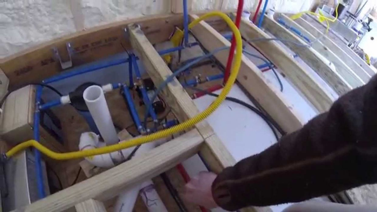 Tiny House Plumbing and Cabinets - tiny house plumbing