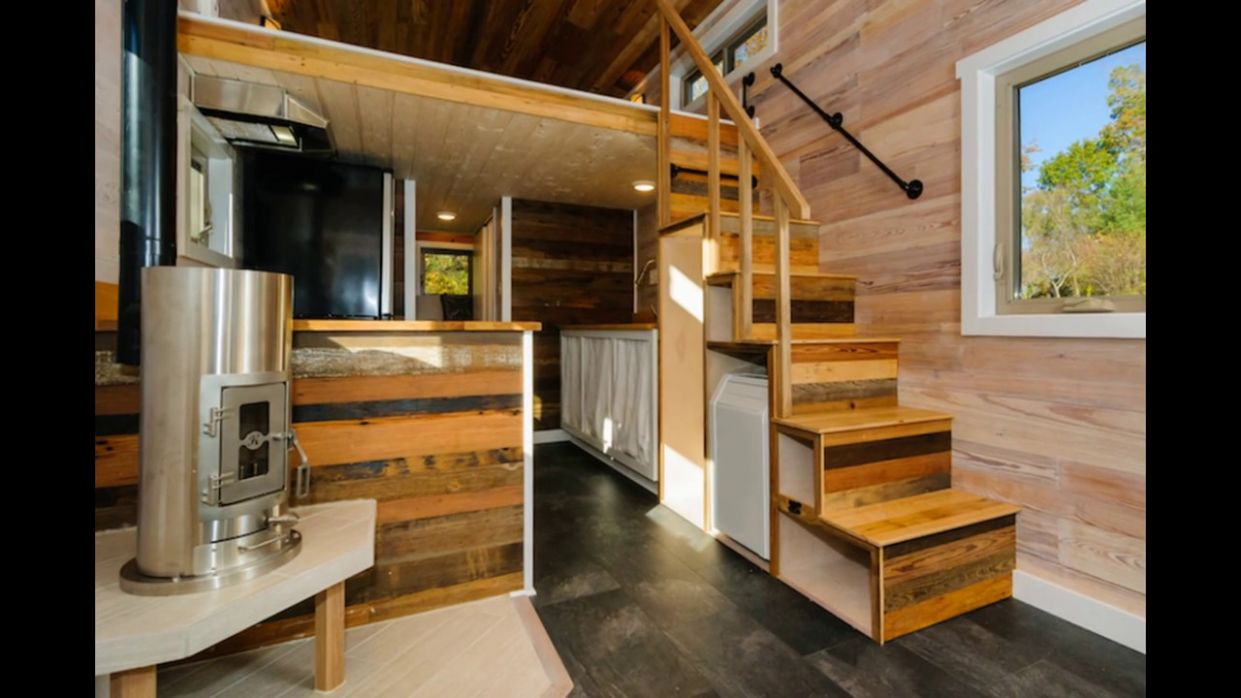 Tiny House Stairs Storage - YouTube