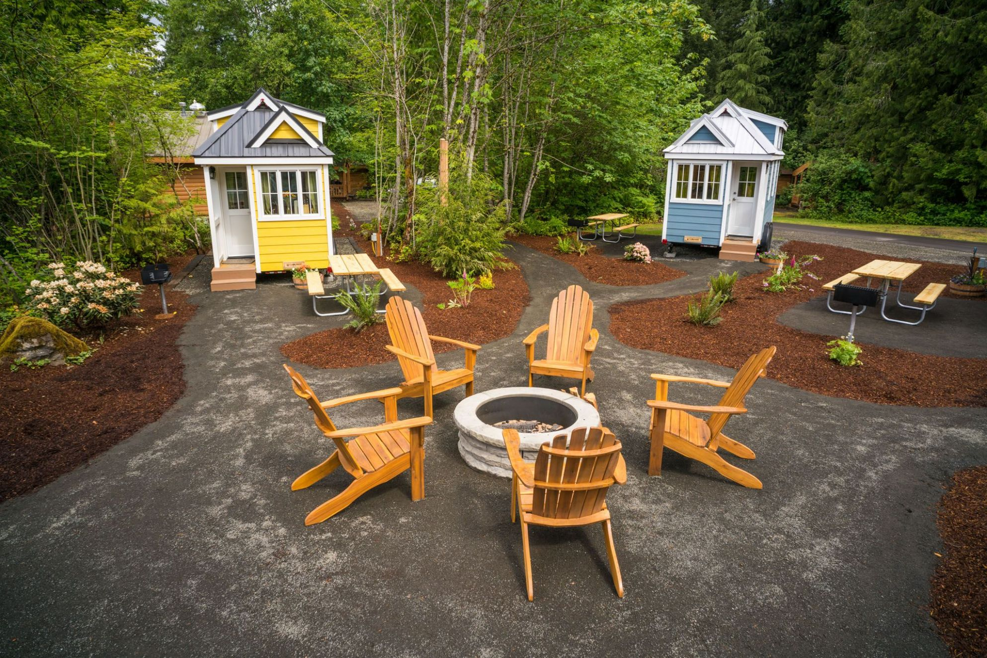 """Tiny House Village offers rentals to try """"Tiny Life"""" in Mt Hood .."""