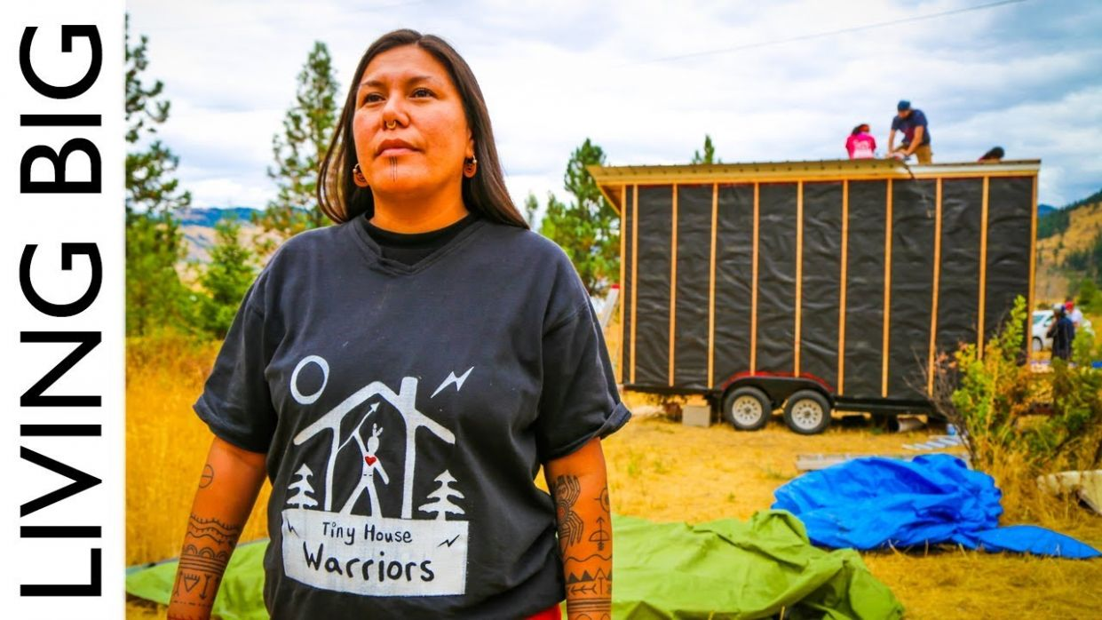 Tiny House Warriors: Building Tiny Homes To Defend Against Oil Pipeline - tiny house warriors