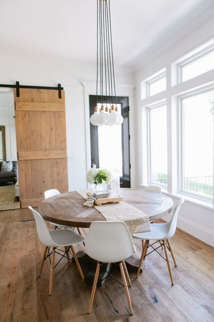 Top 12 Modern Round Dining Tables | Farmhouse dining room table ..
