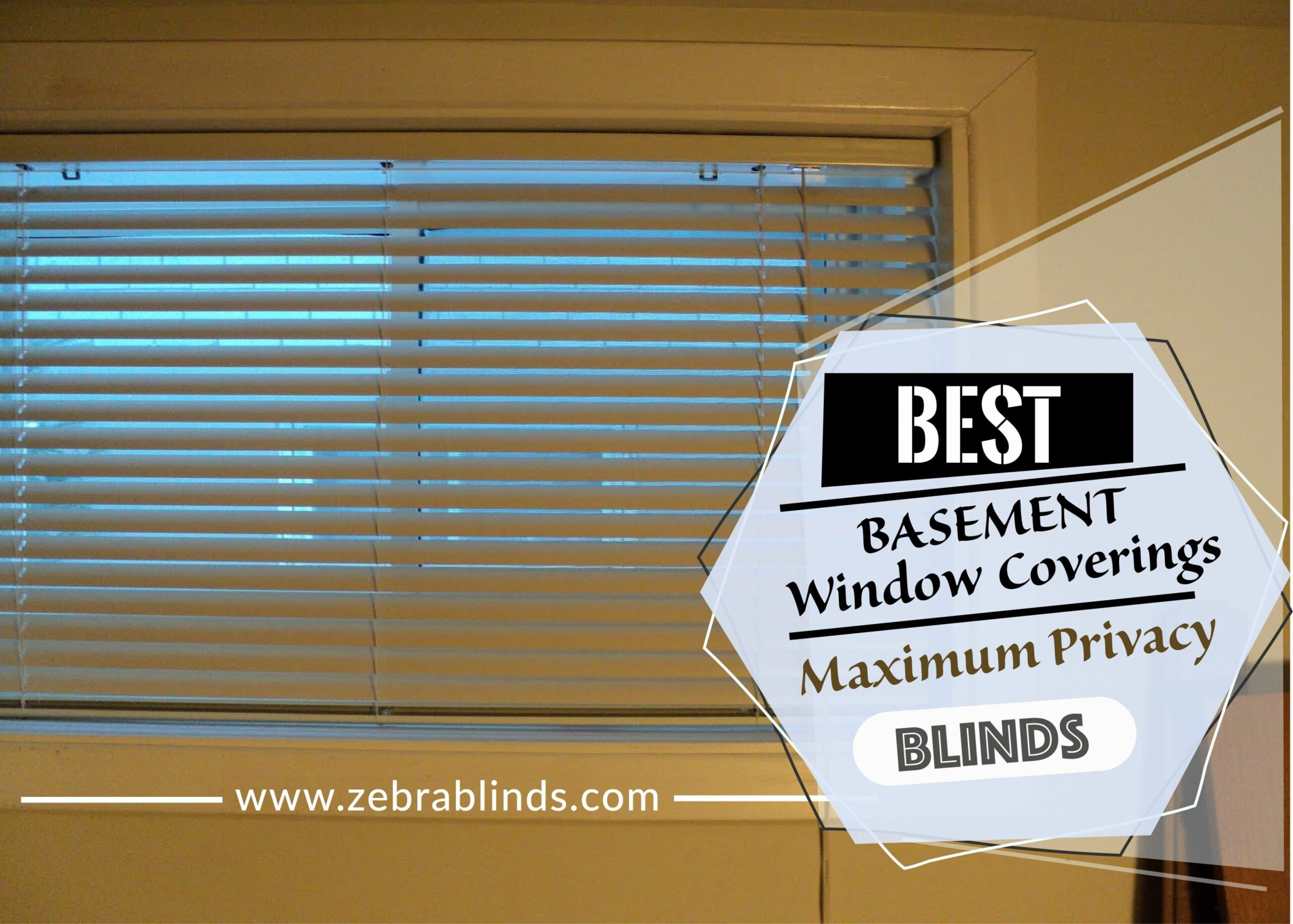 Top Basement Window Treatment Ideas - Maximum Privacy Blinds - window ideas for privacy