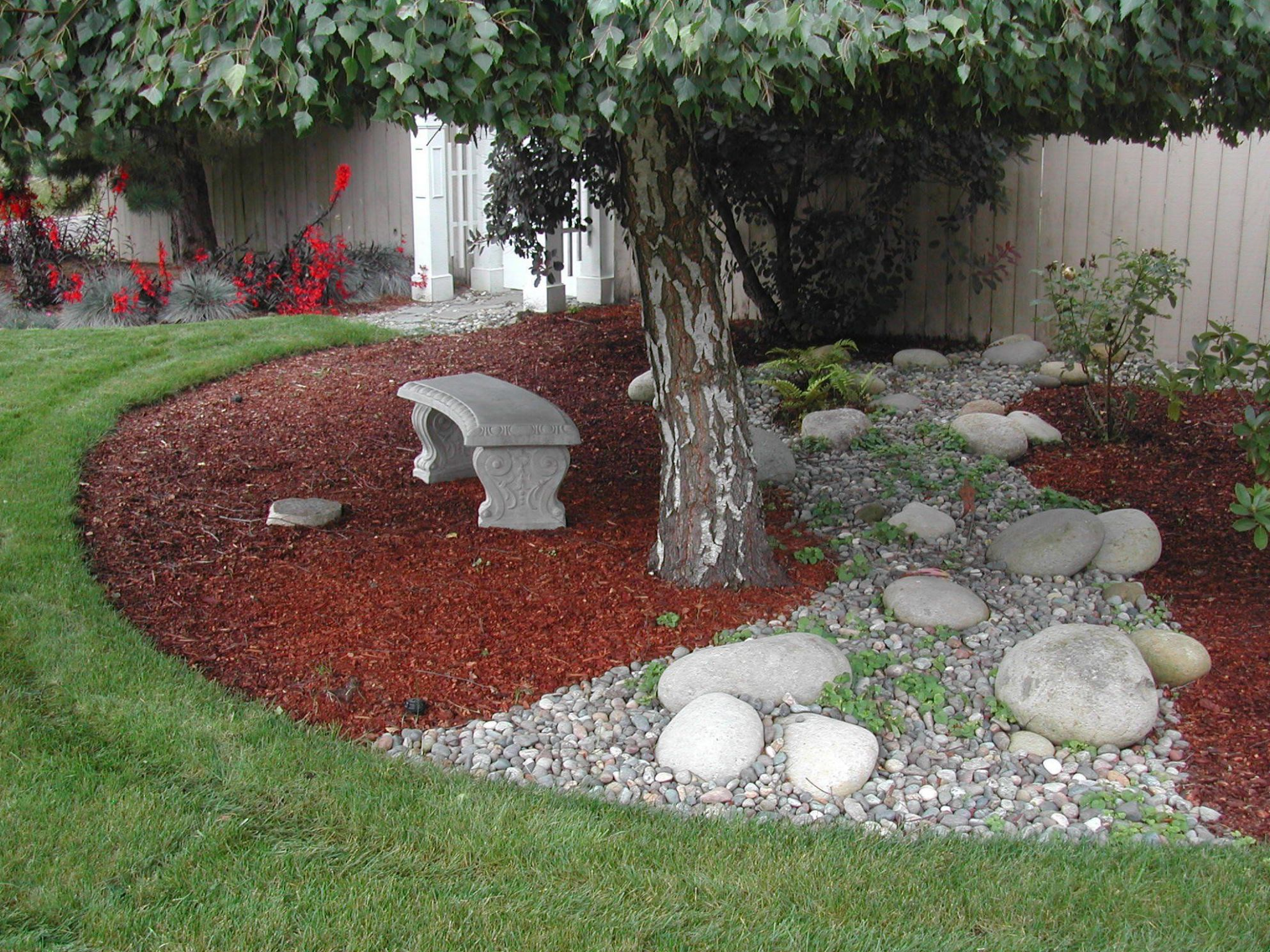 Tree Bark in Landscape Design | Small backyard landscaping, Mulch ..