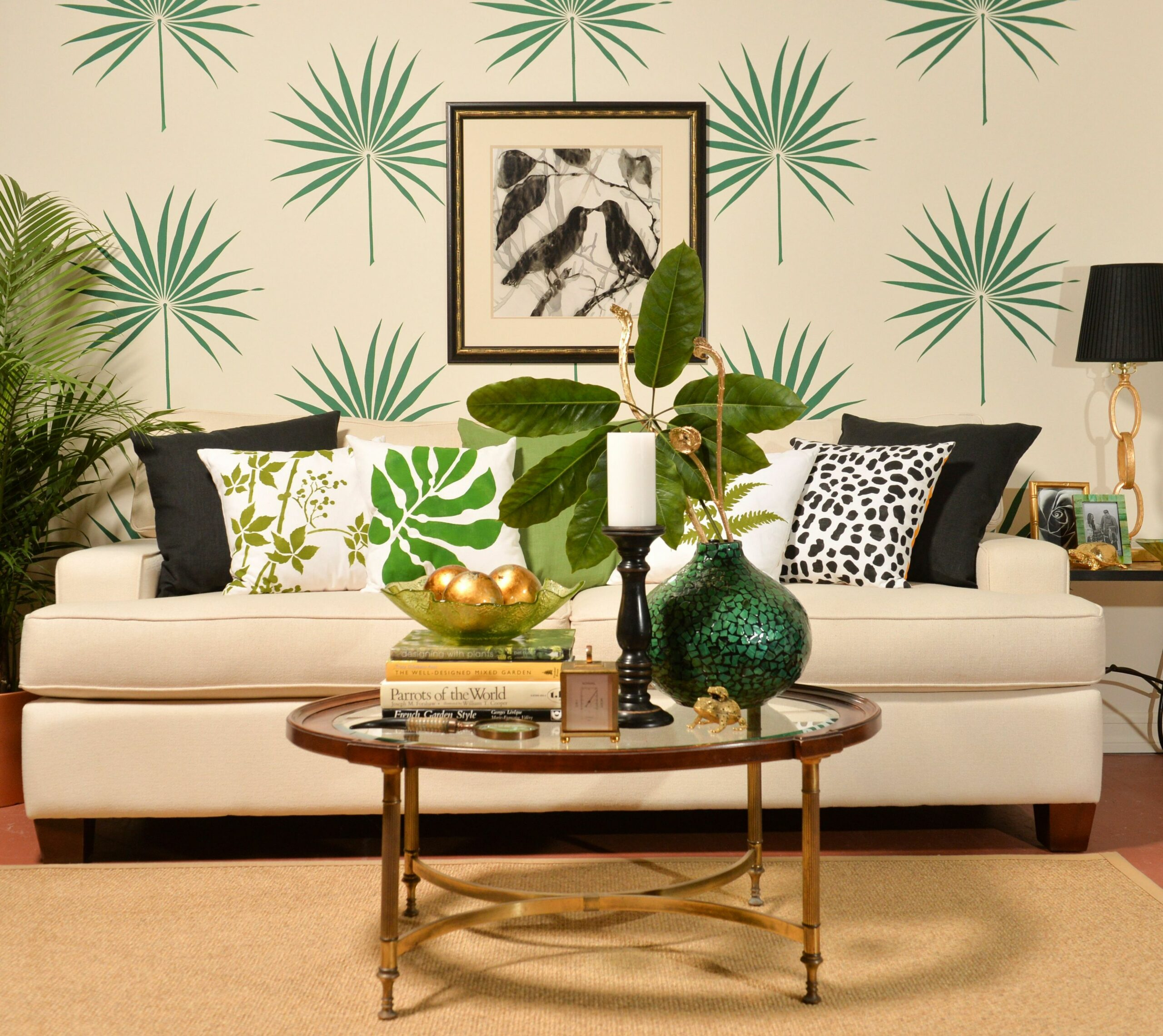 Trend Spotting: Tropical Decorating | Tropical wall decor, Stencil ..