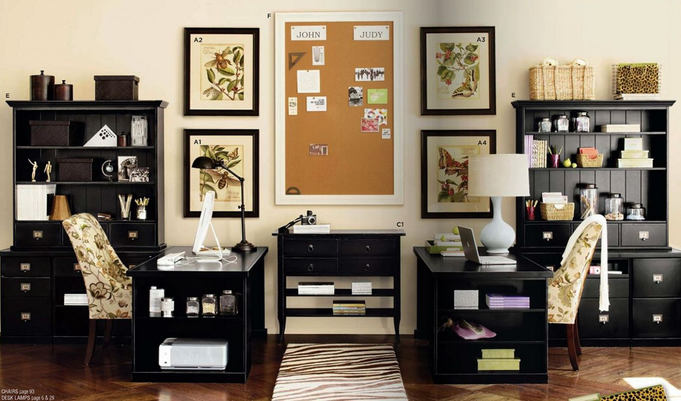 Two Desk Home Office Ideas – DECOREDO - home office ideas with two desks
