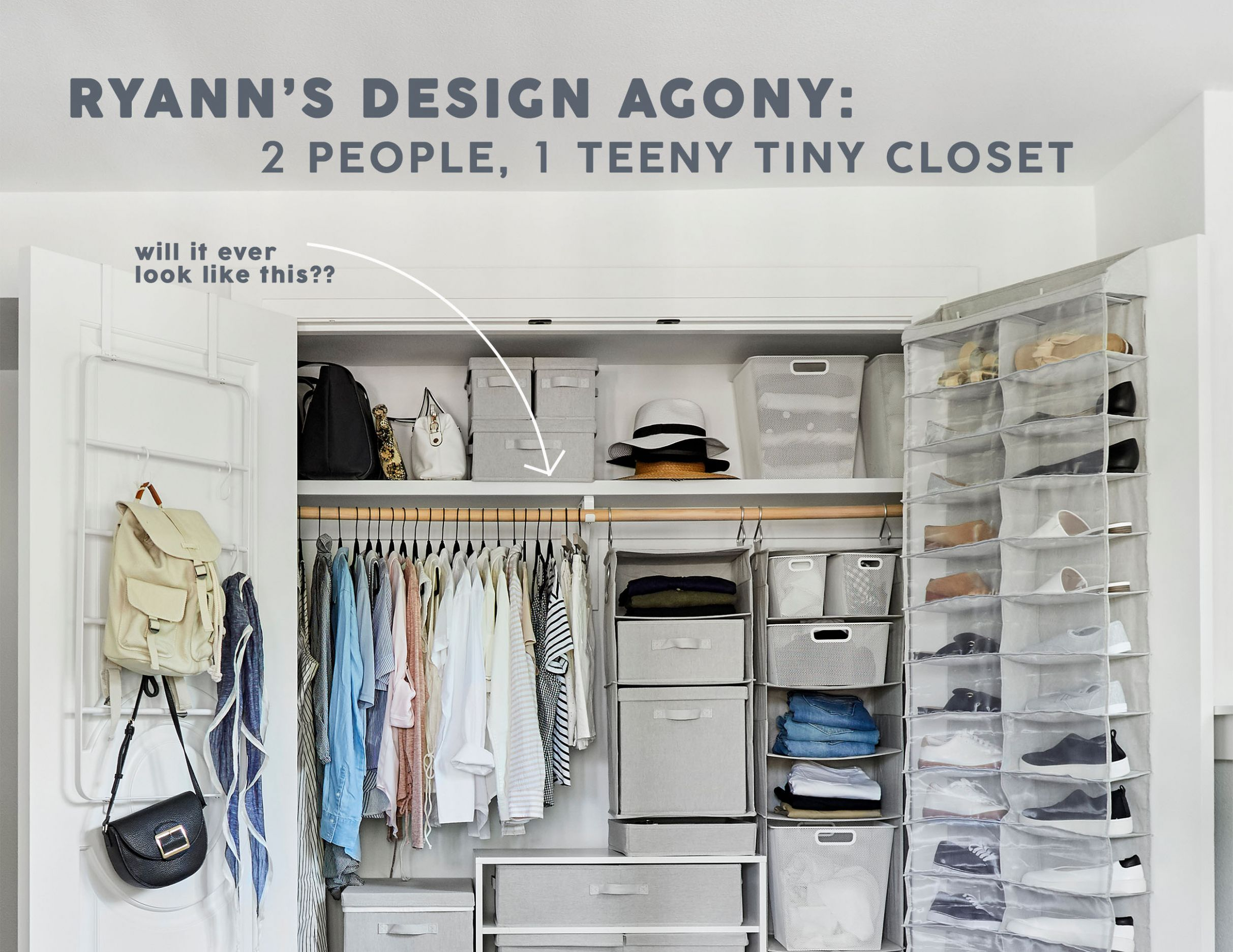 Two People, One Tiny Closet - A Small Space Storage Agony with 12 ...
