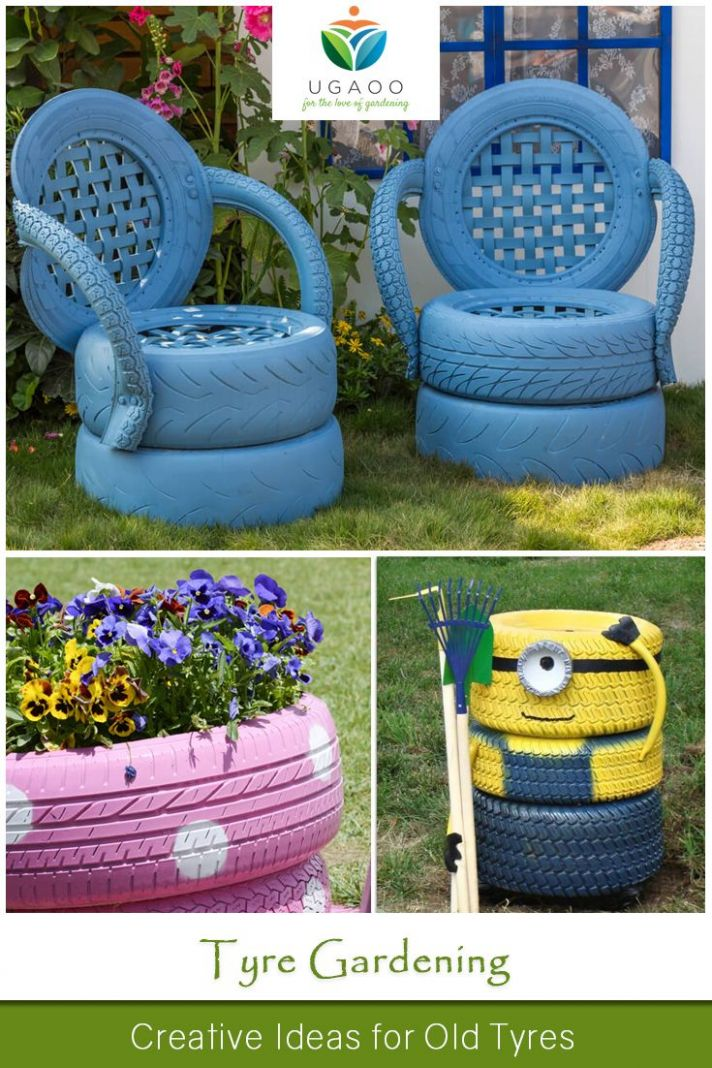 Tyre Gardening – Creative Ideas for Old Tyres | Tire garden, Old ..