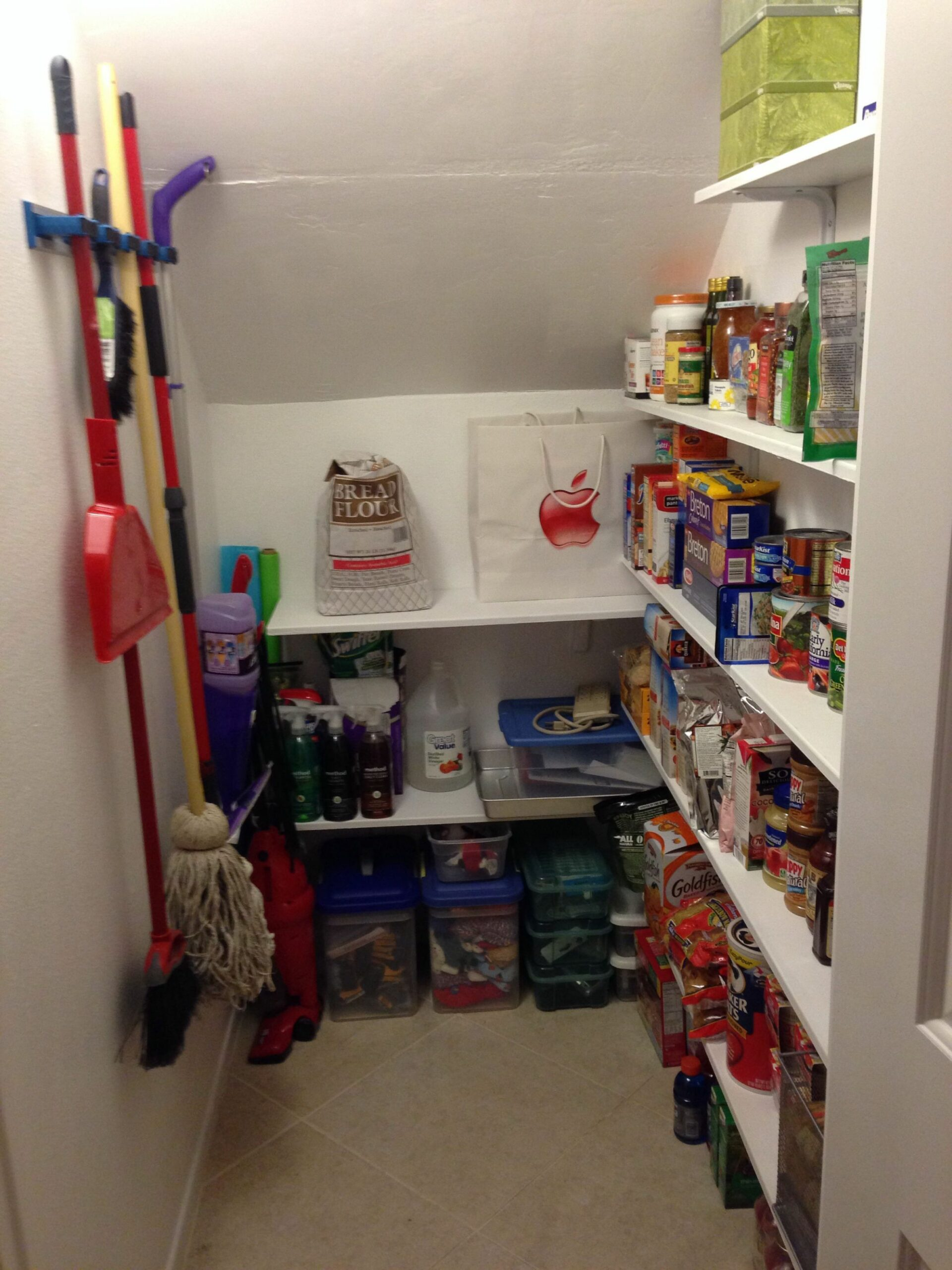 Under stairs coat closet turned pantry (With images) | Closet ...