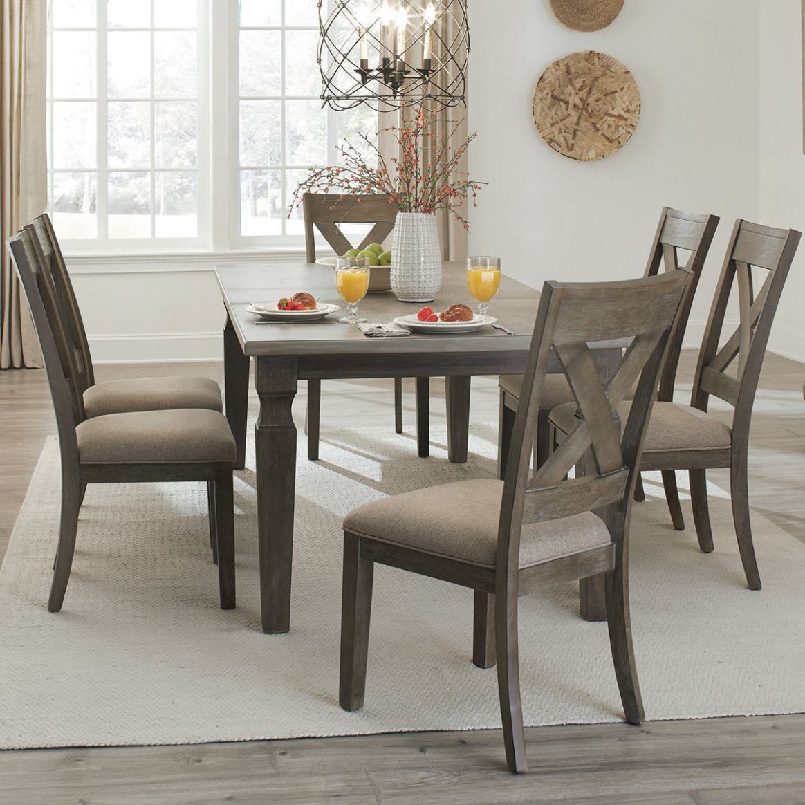 Universal Furniture Eileen Extending Dining Room Table + 10 Chairs