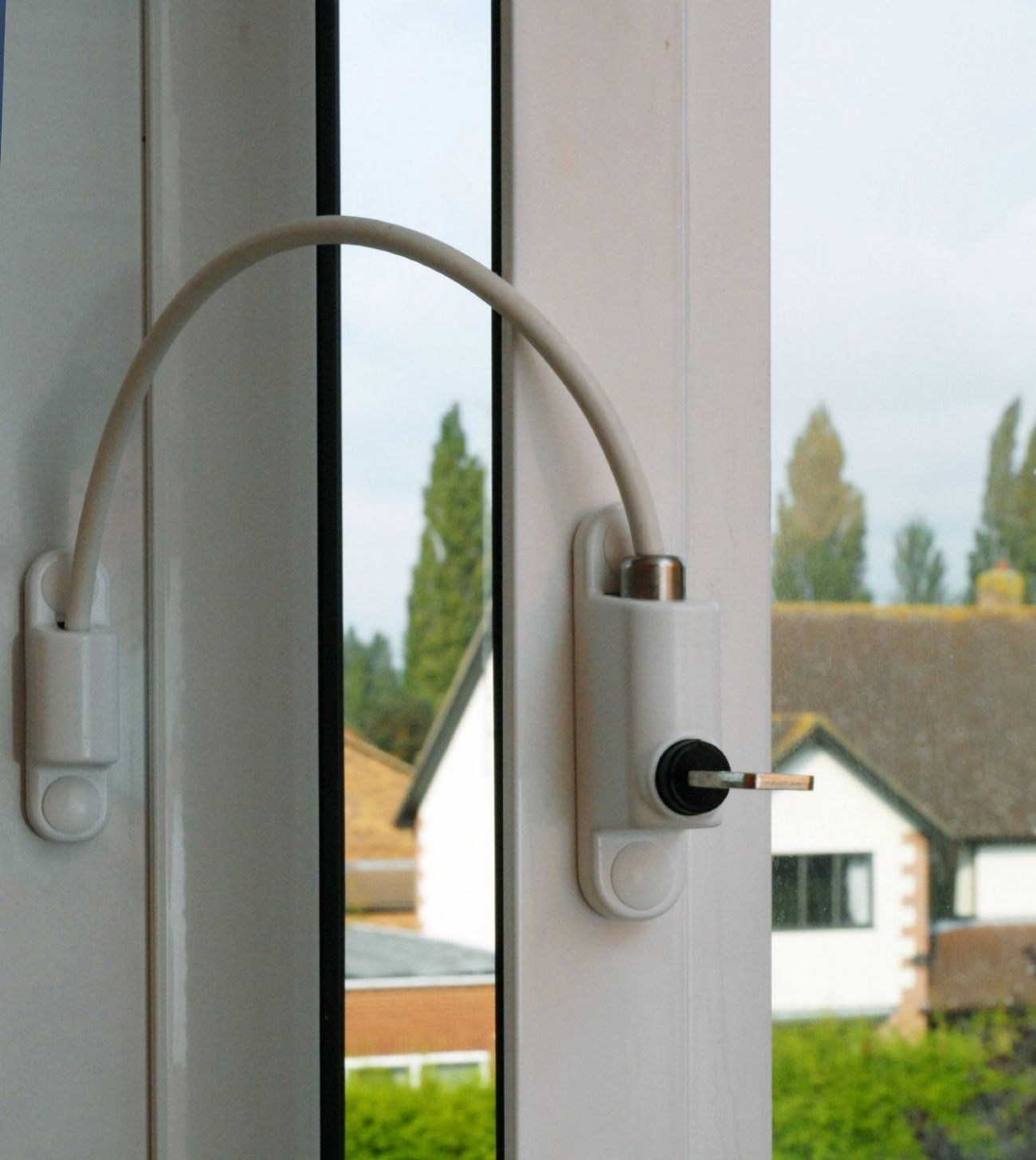 uPVC Cable Window Restrictor. Child Safety Lock. Used On Windows ..