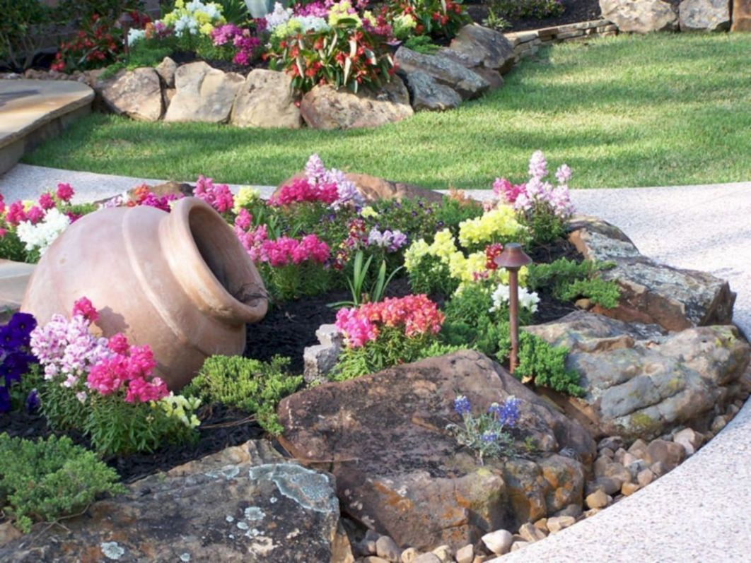 Use medium-sized rocks to earn a border for the subject that you ..