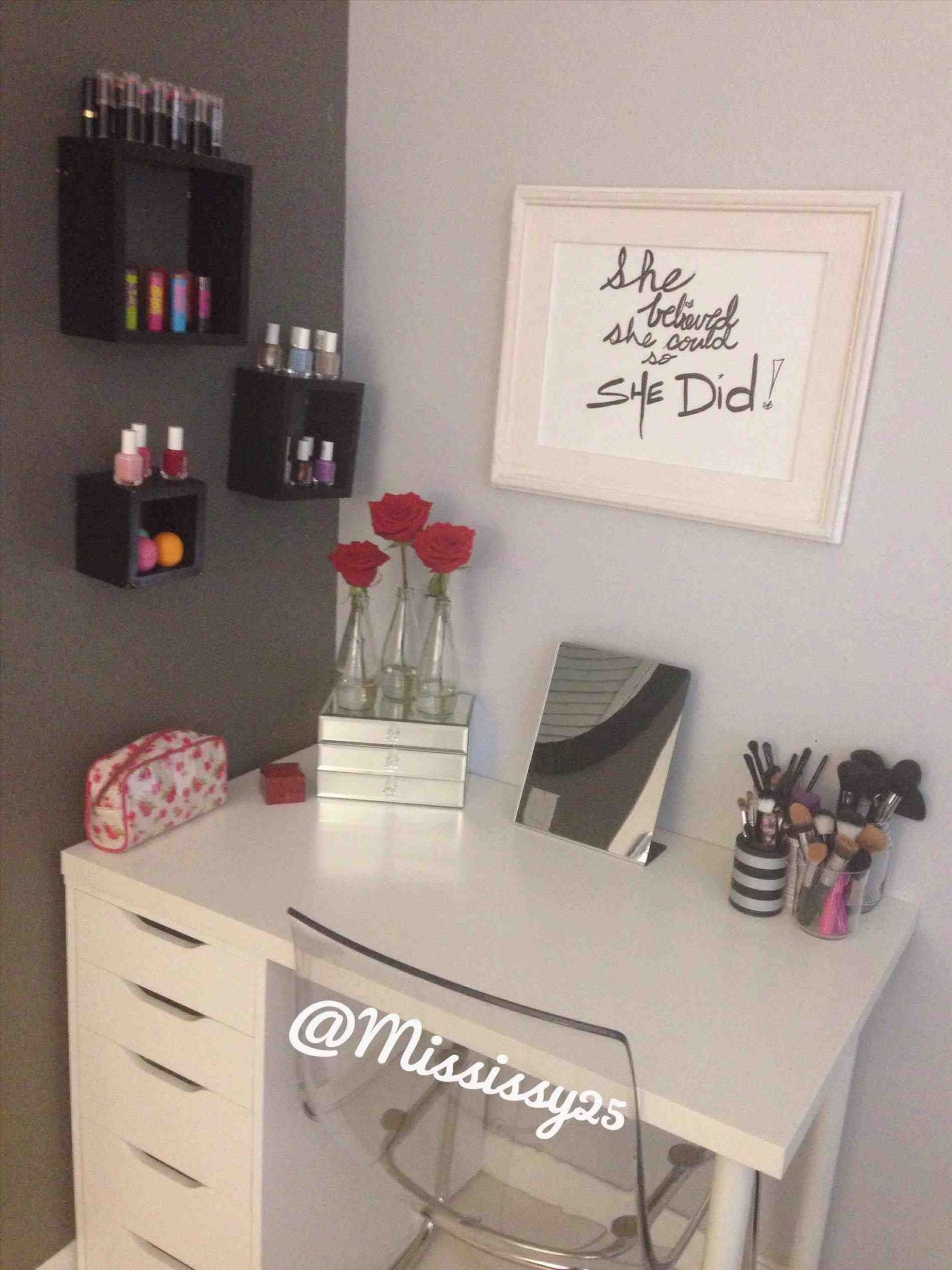 vanity table ikea hack | Ikea vanity, Ikea diy - makeup room vanity ikea