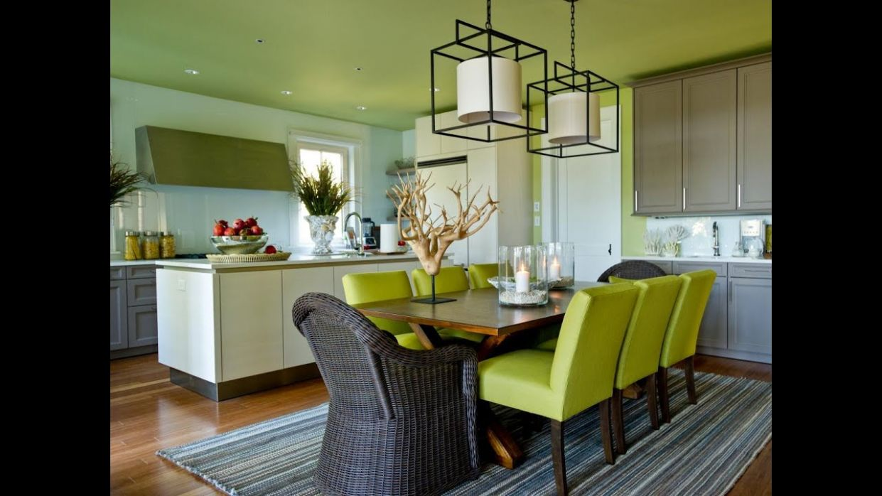 Very Impressive White Green Dining Room Ideas - YouTube - very dining room ideas