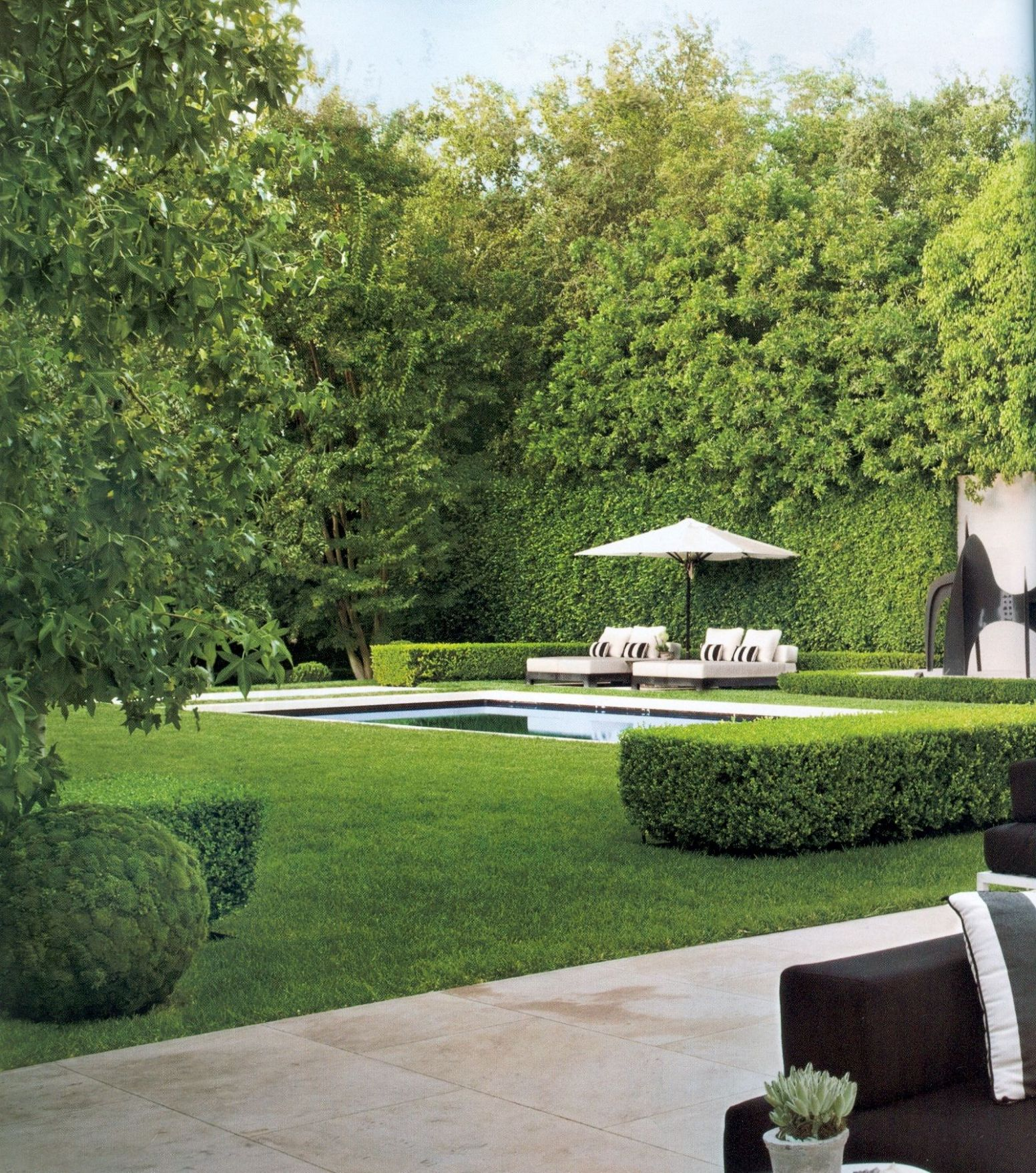 Very private backyard with open grass area and pool   Pool ..