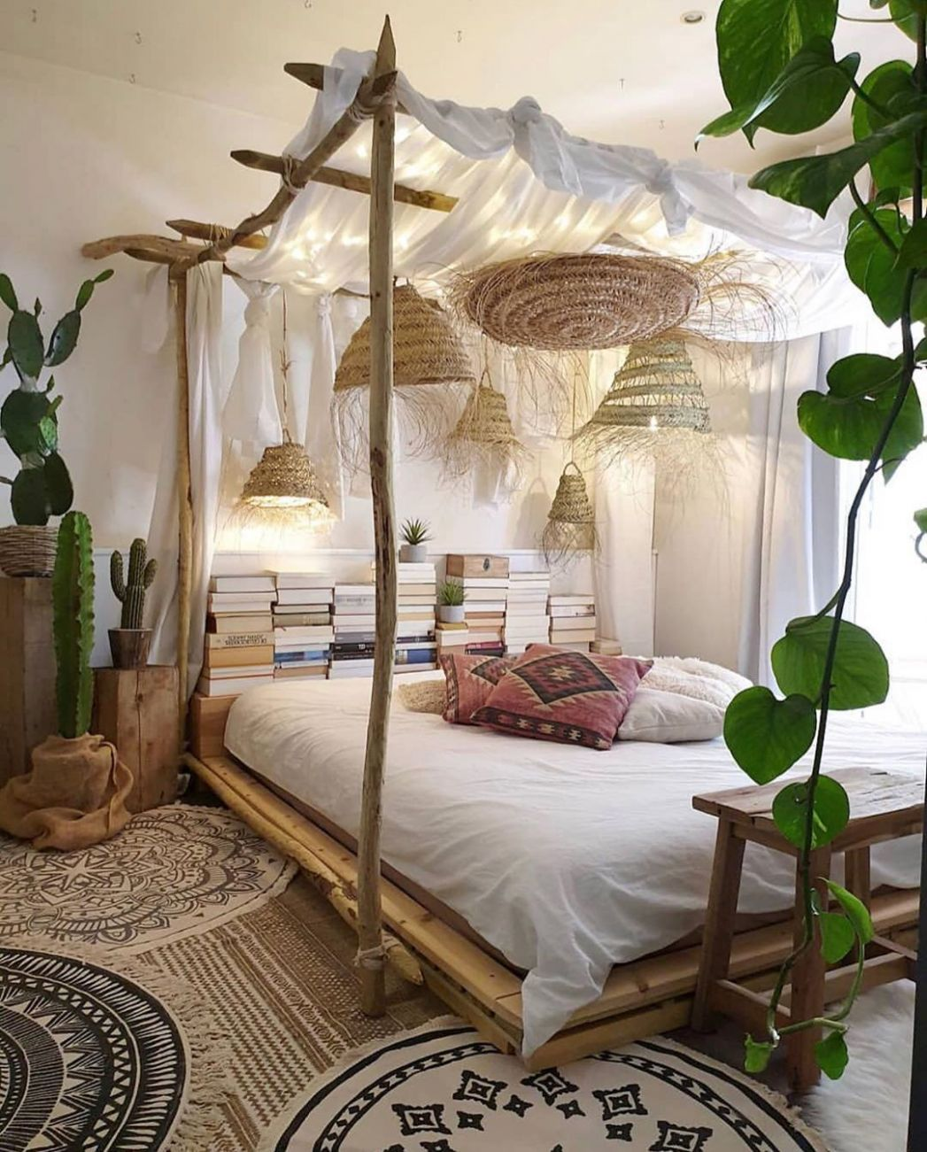 via @my_homely_decor Loving this nature inspired bedroom by ...