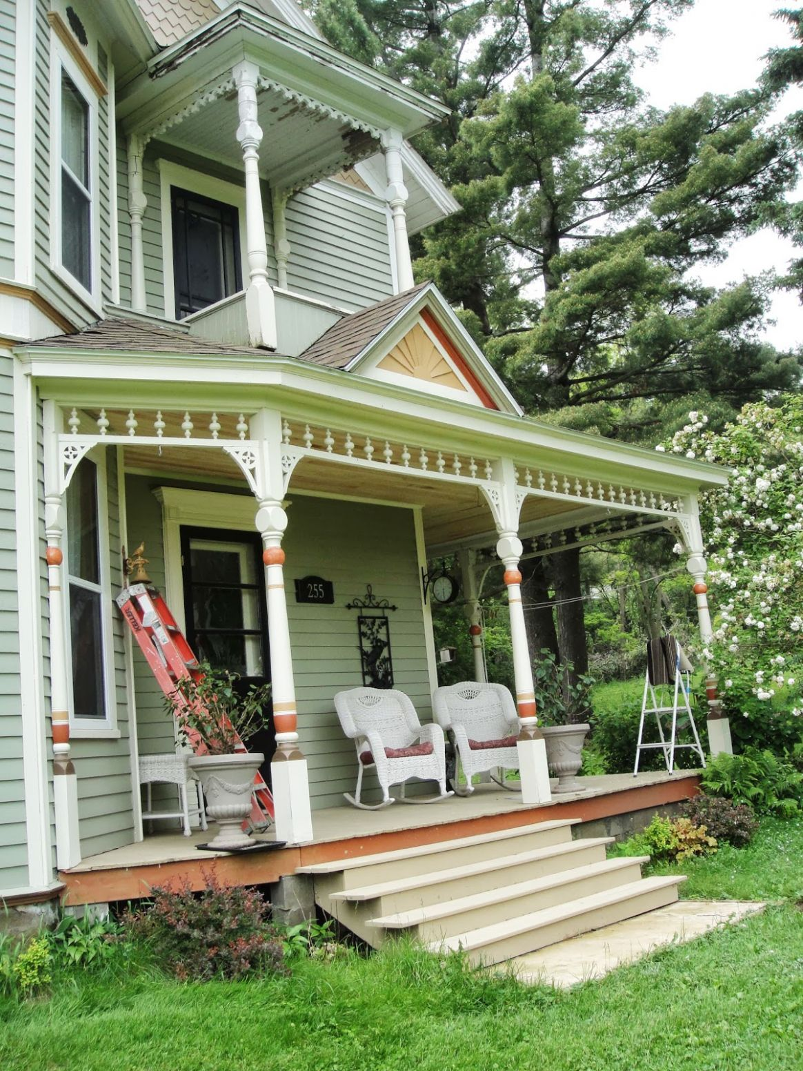 Victorian Farmhouse Front Porch Gets New Ceiling Style Decor Home ..