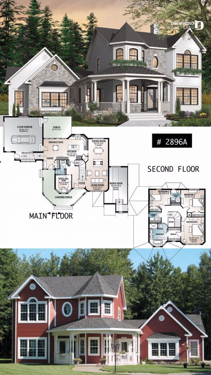 Victorian inspired house plan, 11 to 11 bedroom, ens... - #Bedroom ..