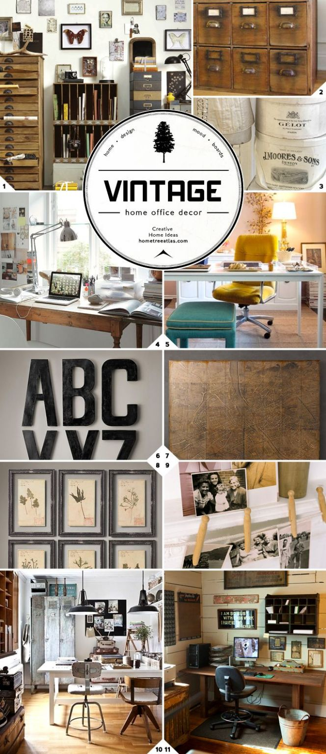 Vintage Home Office Accessories and Decor Ideas | Altmodische ..