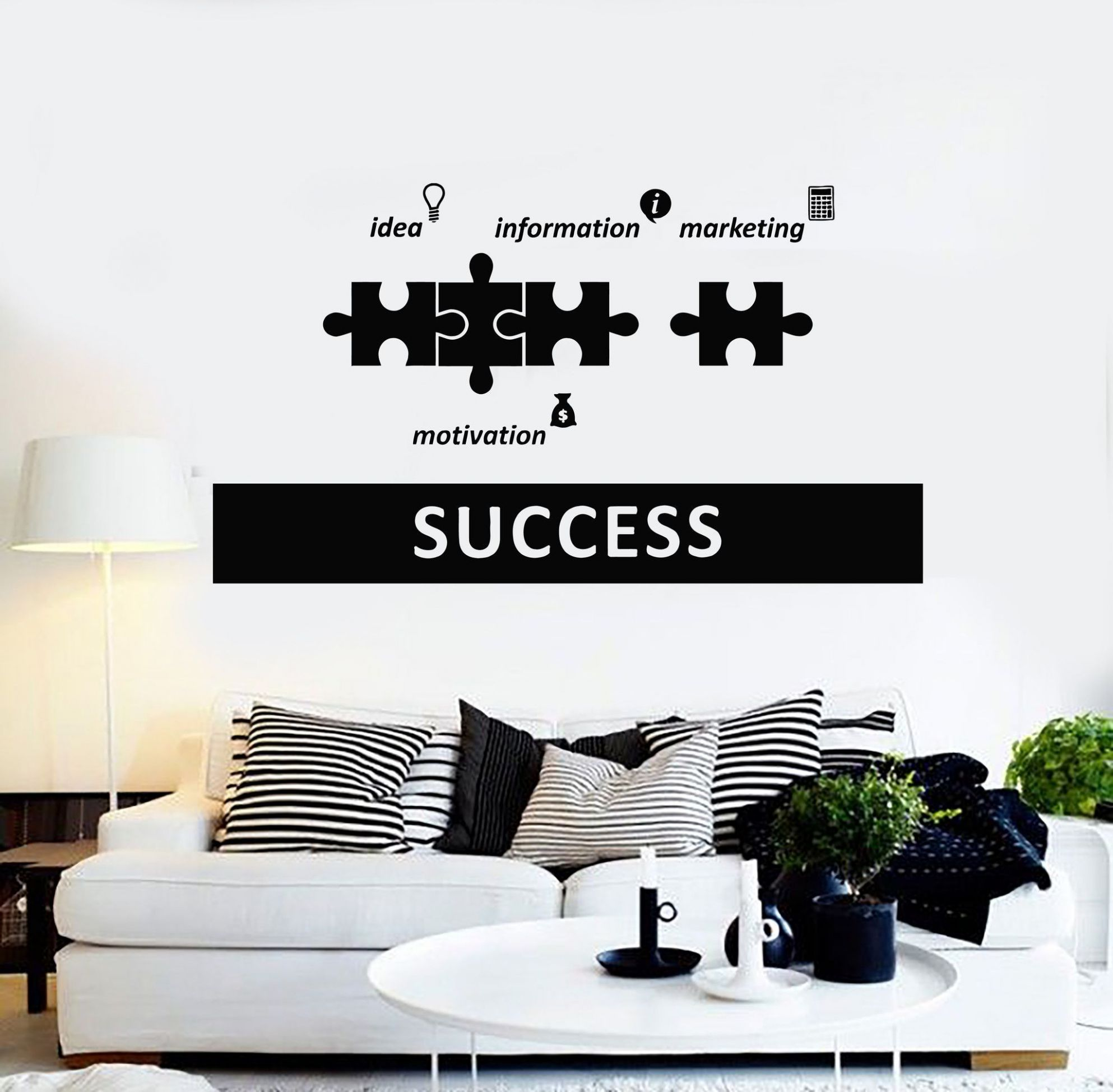 Vinyl Wall Decal Success Office Decoration Motivation Stickers ..