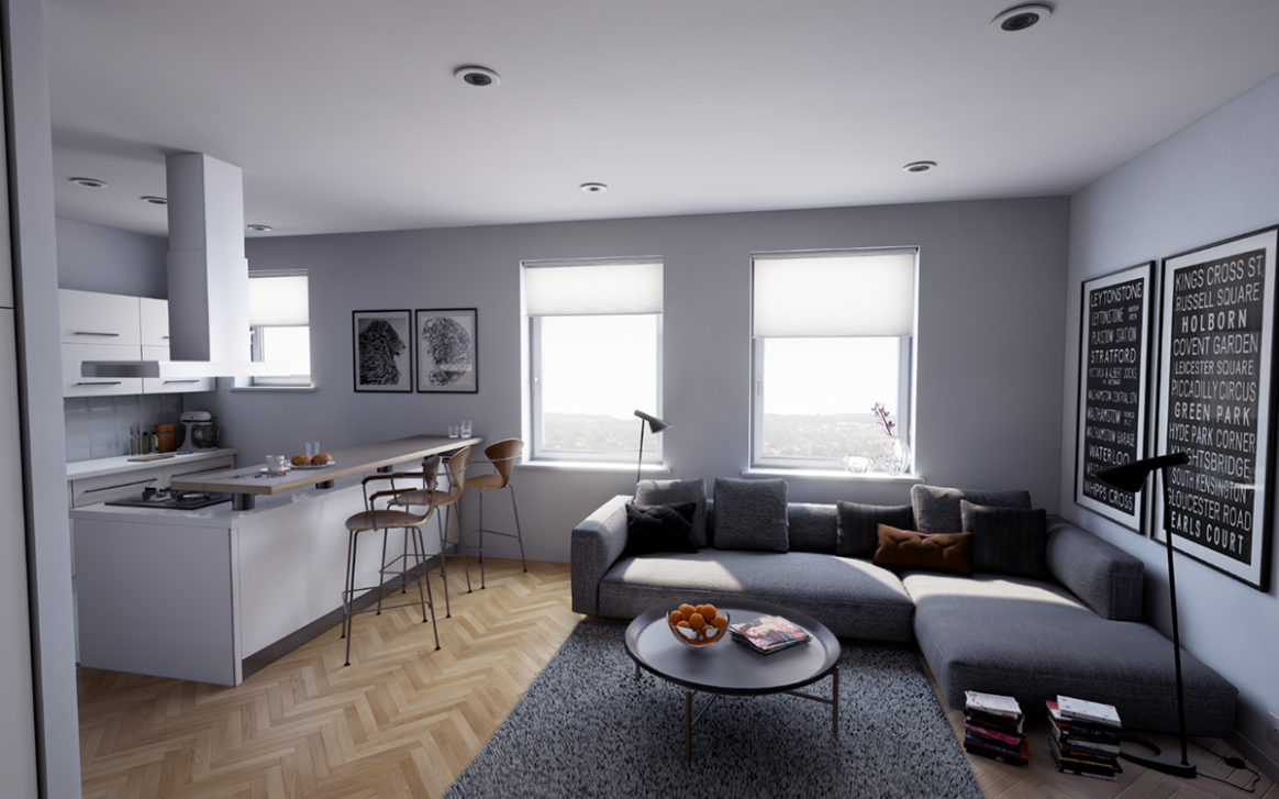 Virtual tour of the apartment in New York on Behance