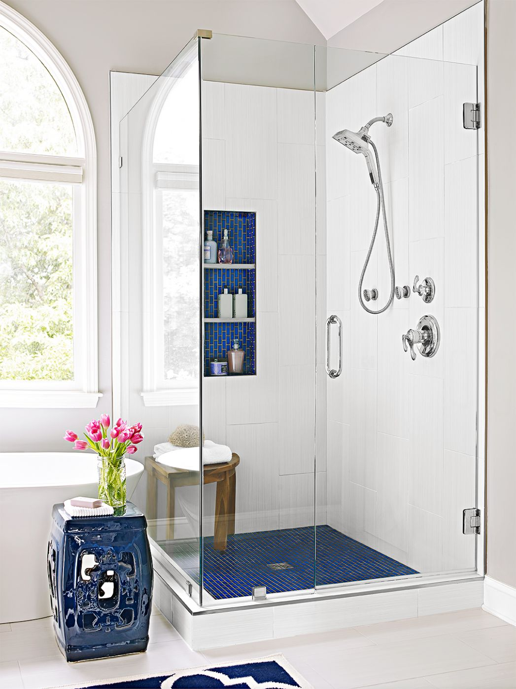 Walk-In Showers for Small Bathrooms | Better Homes & Gardens - bathroom ideas with shower