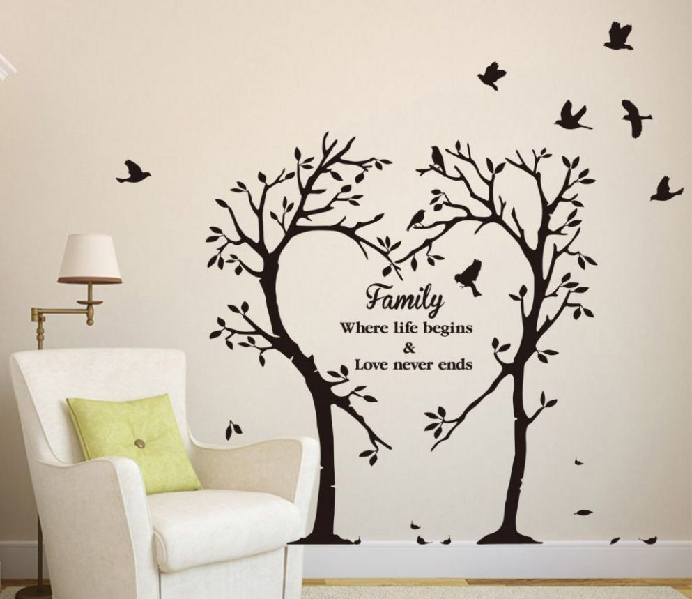 Wall Art Decor Ideas, Lamp Tree Wall Art Decal Simple Great Nice ..