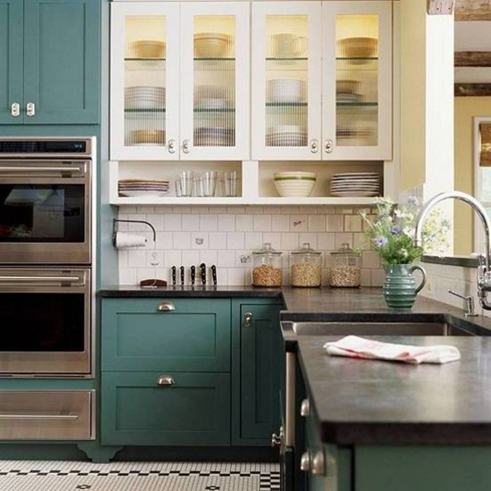 Wall Colors For Small Kitchens With White Cabinets Home Furnitures ...