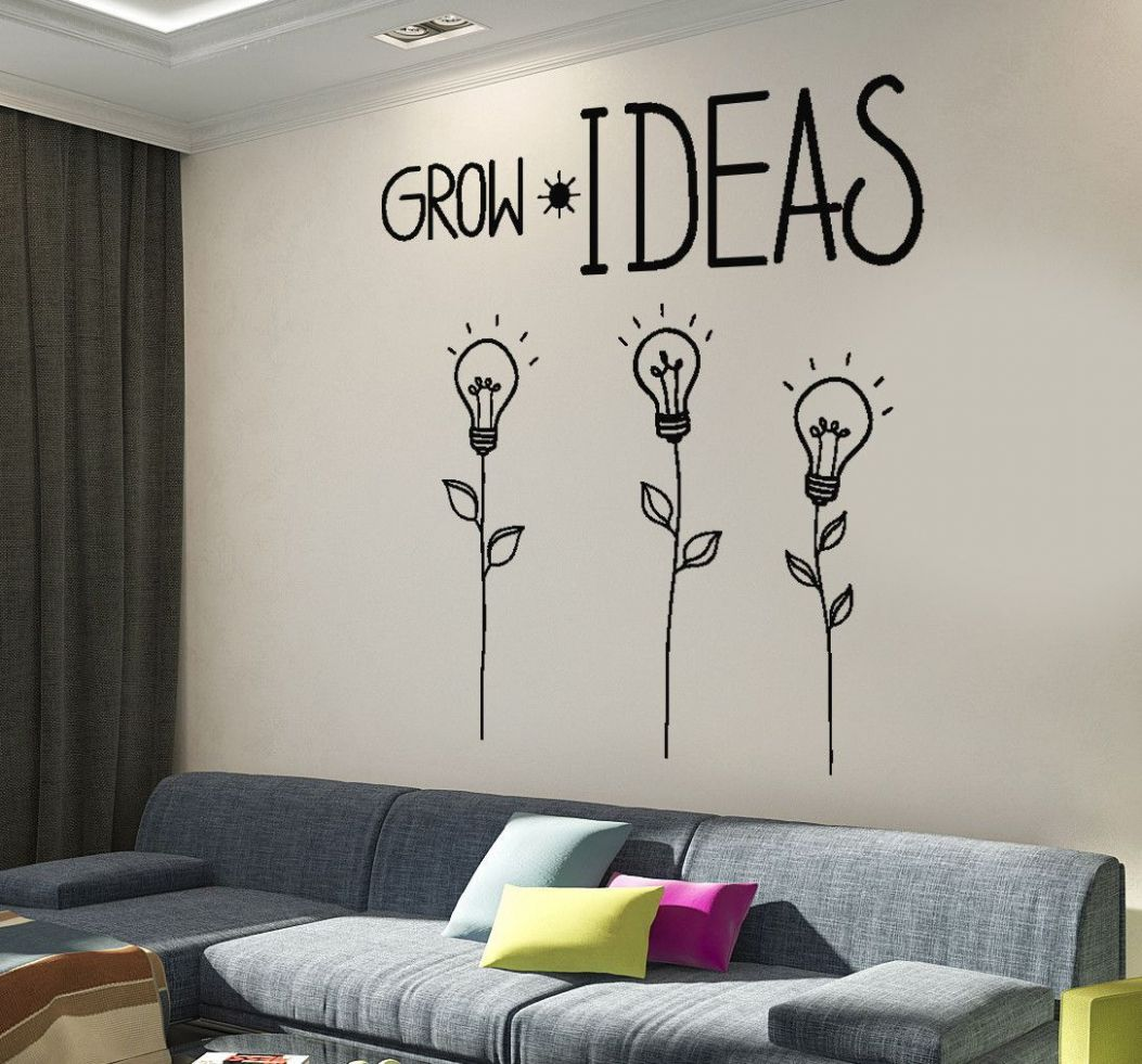 Wall Decal Motivation Quotes Grow Ideas Creative Flower Home ..