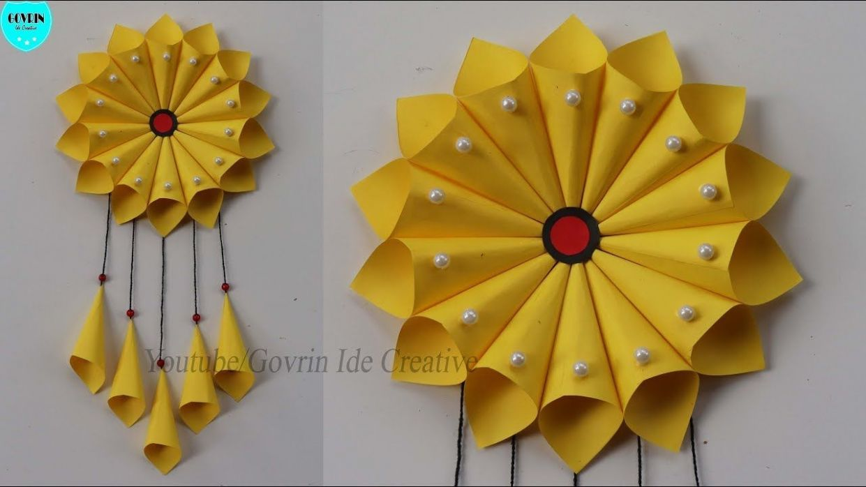 WALL DECOR IDEAS | Hiasan, Origami, Bunga kertas