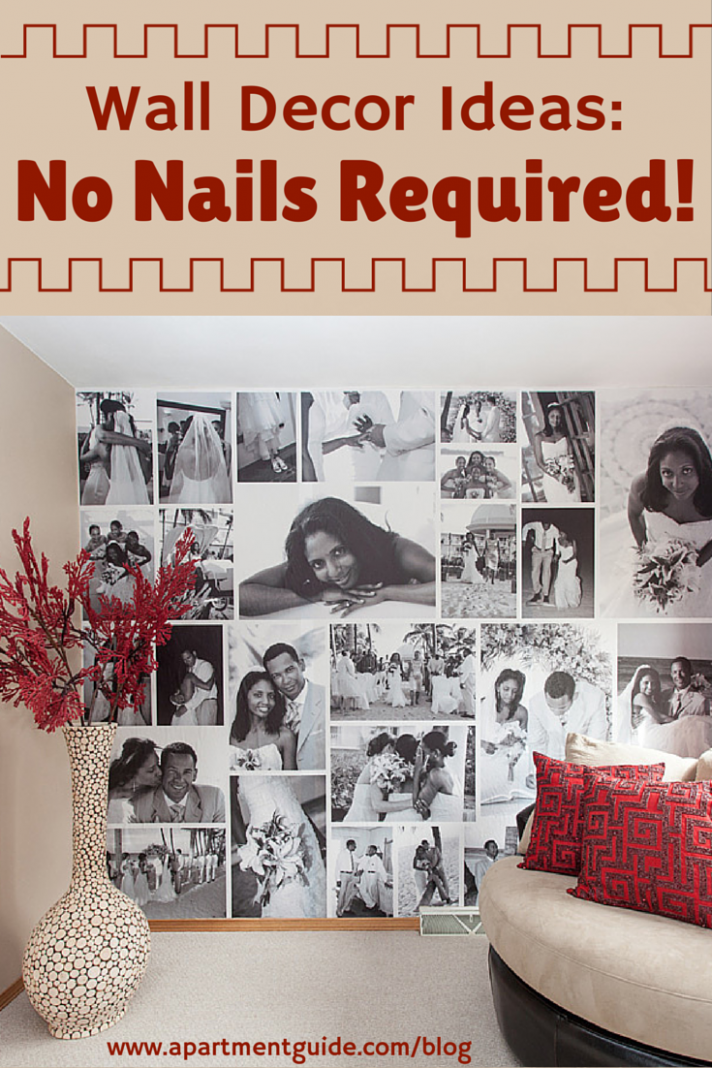 Wall Decor Ideas: No Nails Required   Wall collage decor, Photo ..