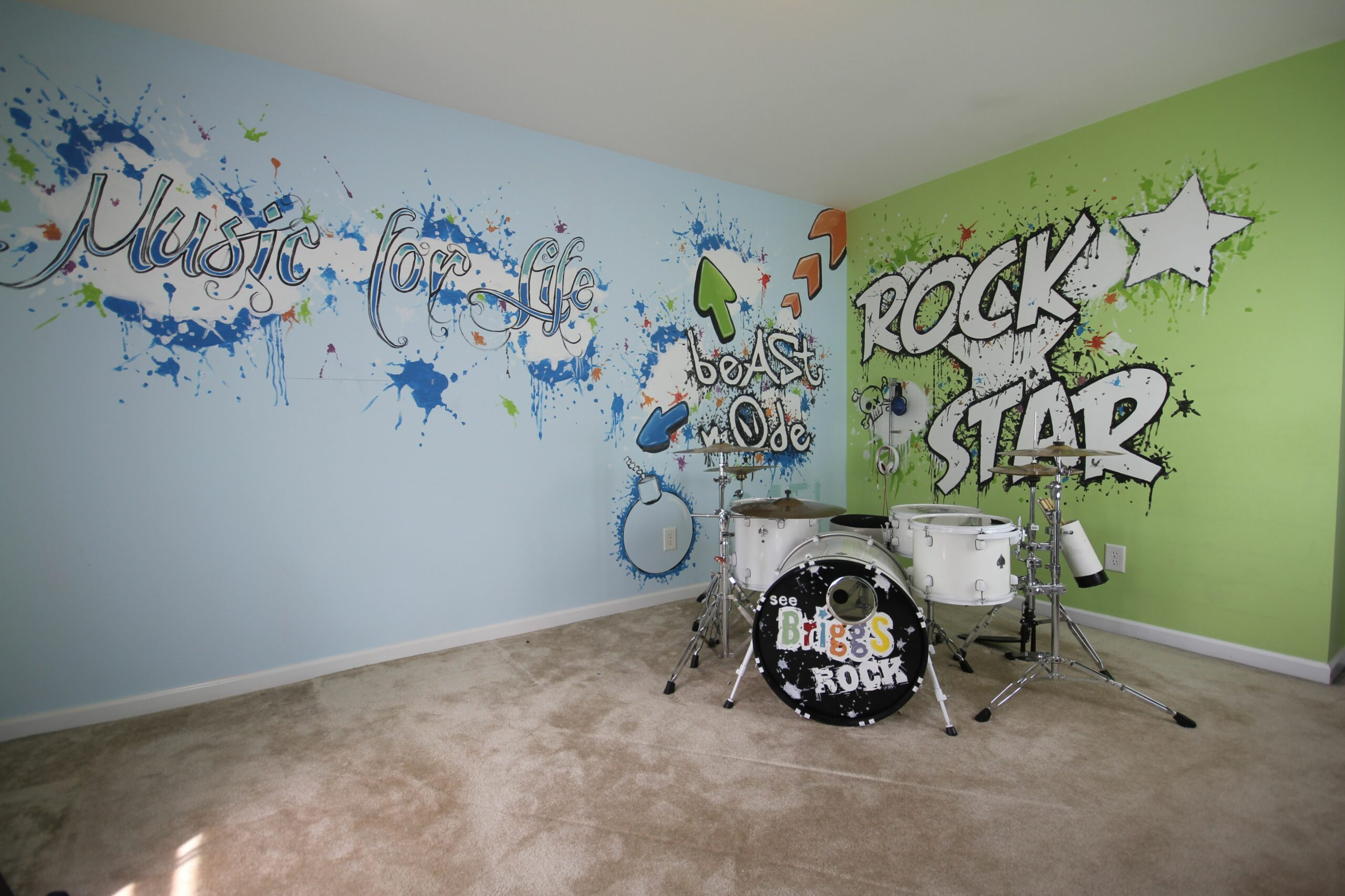 Wall Designs Music Room Design Decor Ideas Decoration Art Cool ...