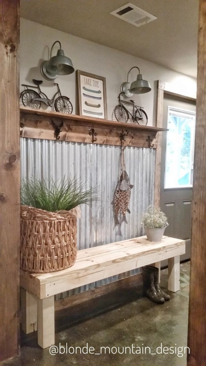 Wall inside dining room from swimming pool - mudroom. | Rustic ..