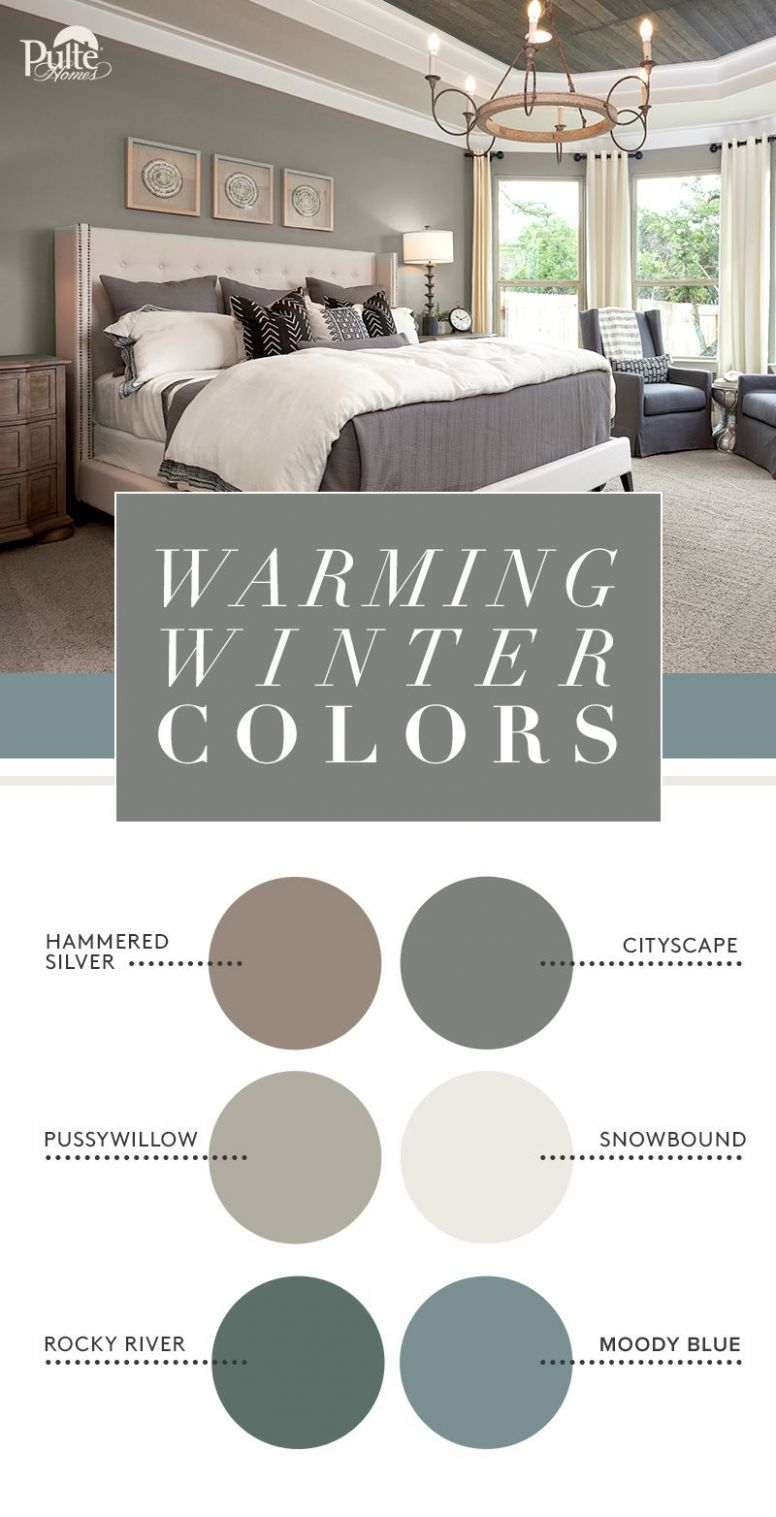 Warm your home this winter with coordinated colors. Fi… | Bedroom ...