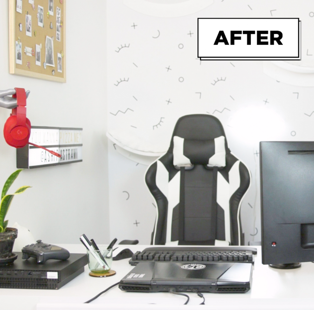 We Transformed A Gamer's Home Office