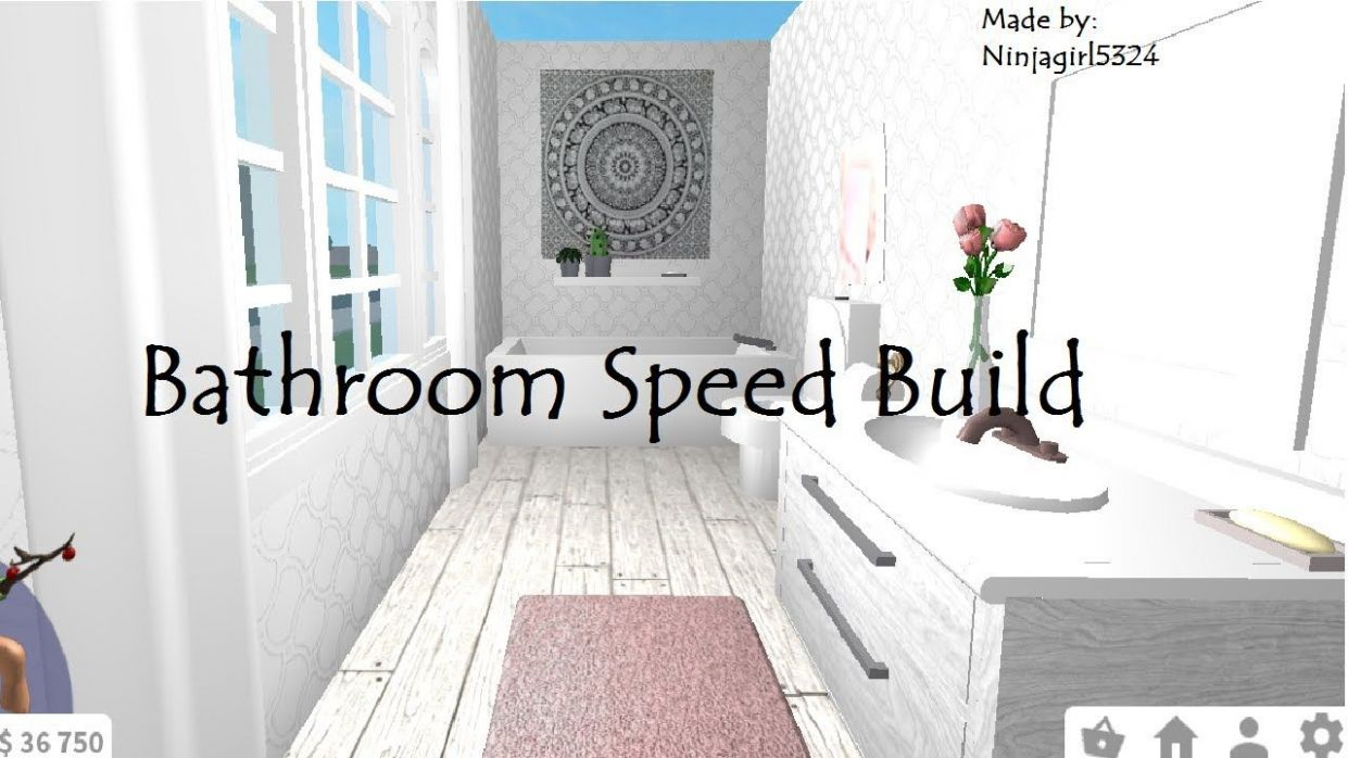 Welcome to Bloxburg Bathroom Speed Build. Redecorating Living Room ...