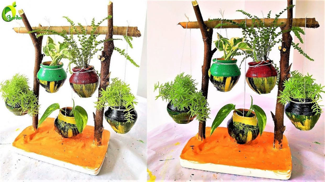 well model garden/hanging plant decoration ideas/garden decoration ideas  homemade/organic garden
