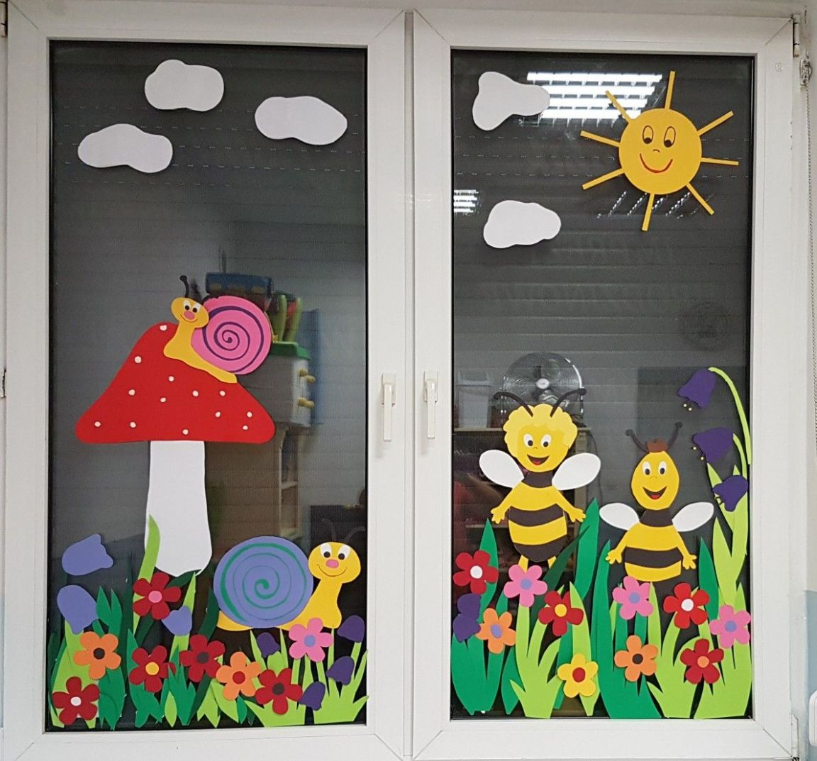 WINDOW DECORATION OF OFFICE-OUT SIDE | Classroom window ..