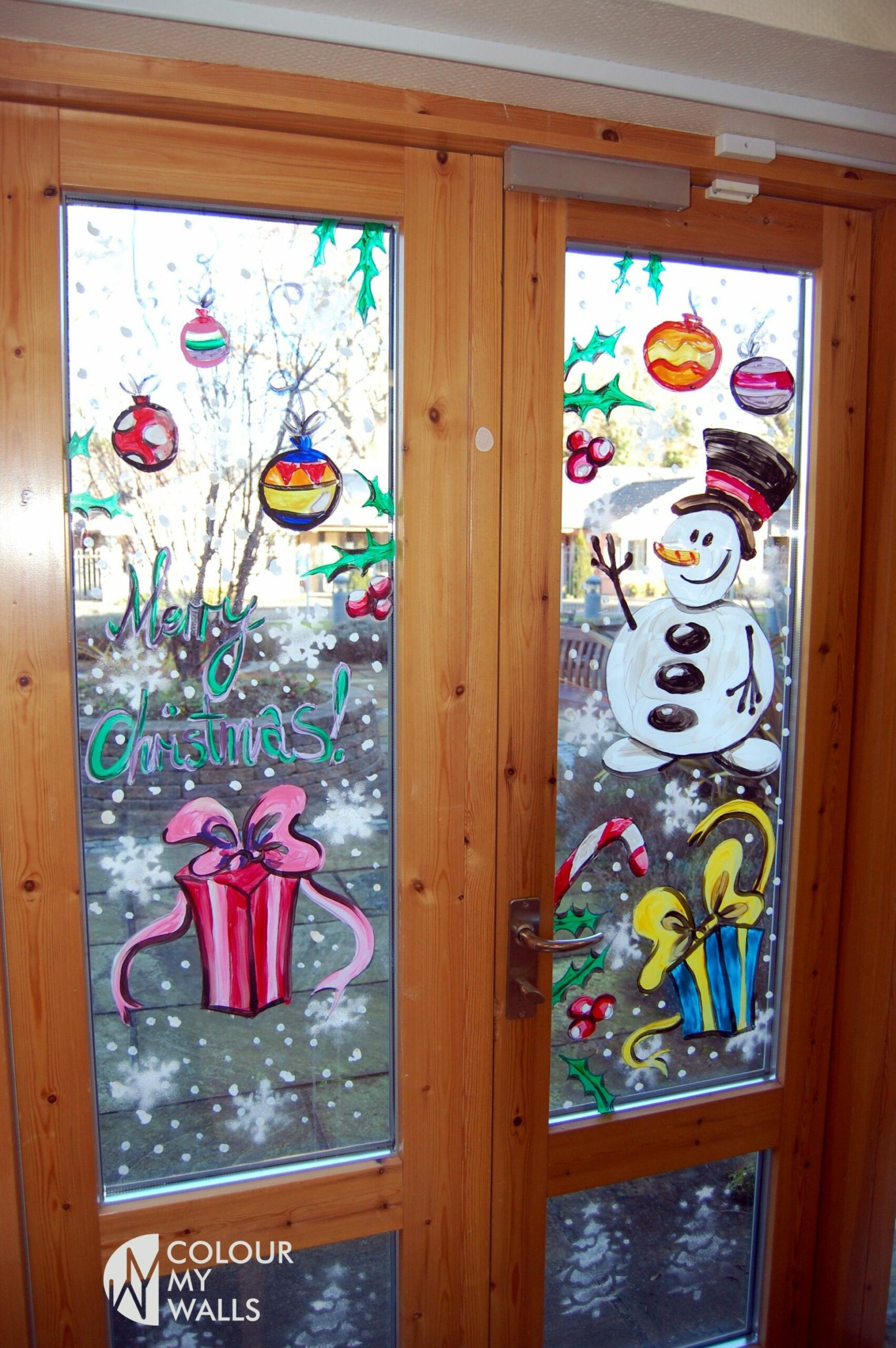 window painting | Christmas window painting, Christmas window ..