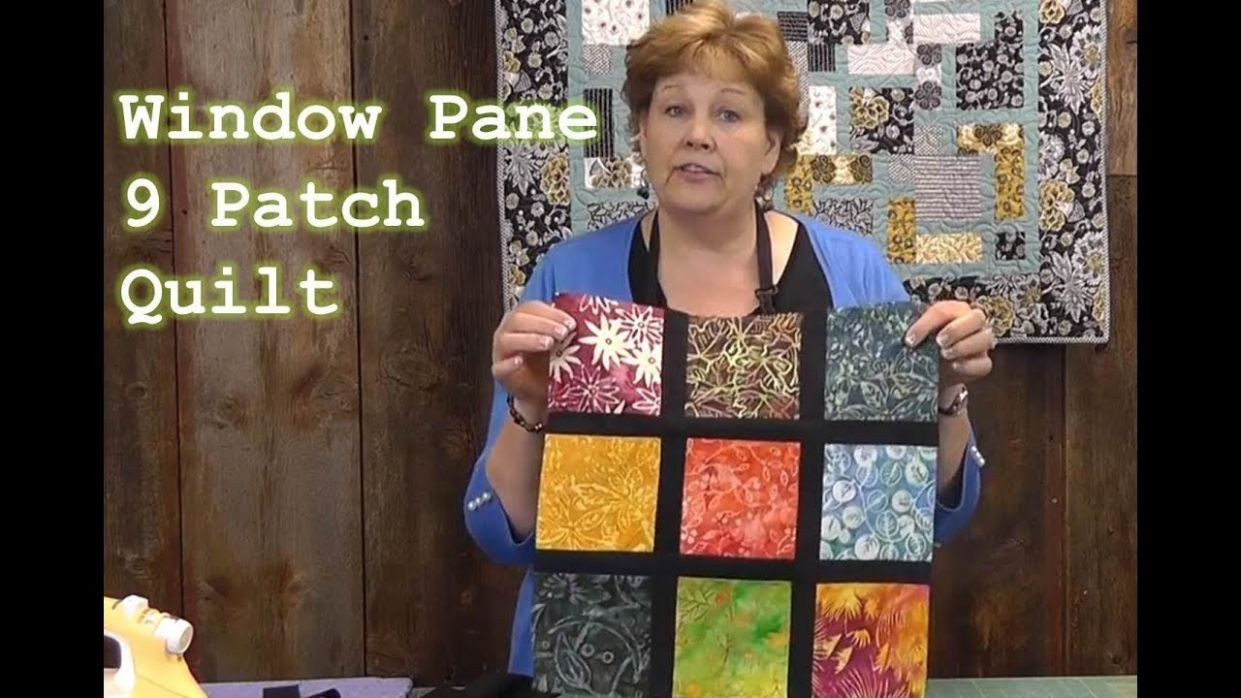 Window Pane 8 Patch Quilt Tutorial