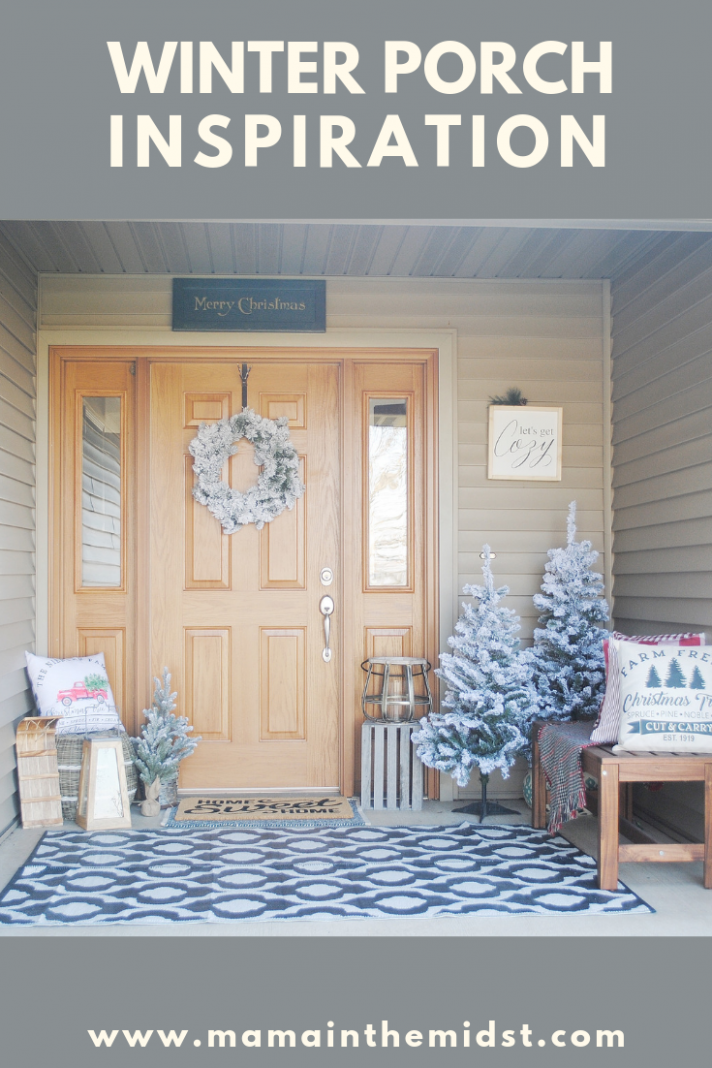 Winter Front Porch Reveal | Winter porch, Small front porches ..