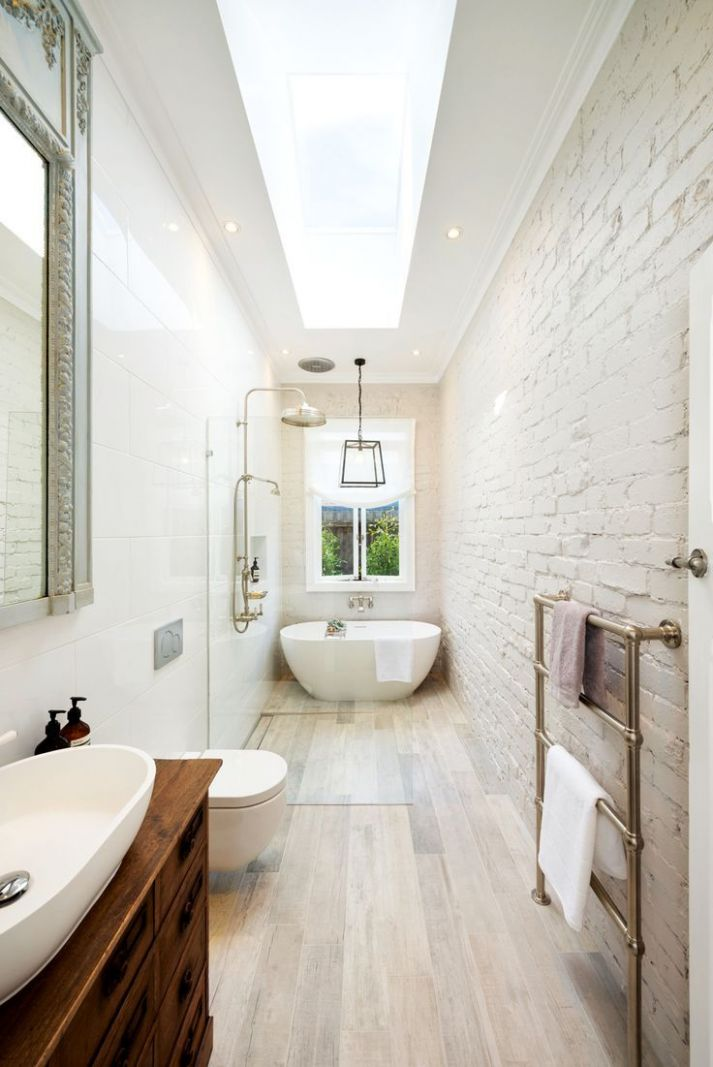 Wondrous Long Narrow Bathroom 8 Great Layout For A Long Narrow ..